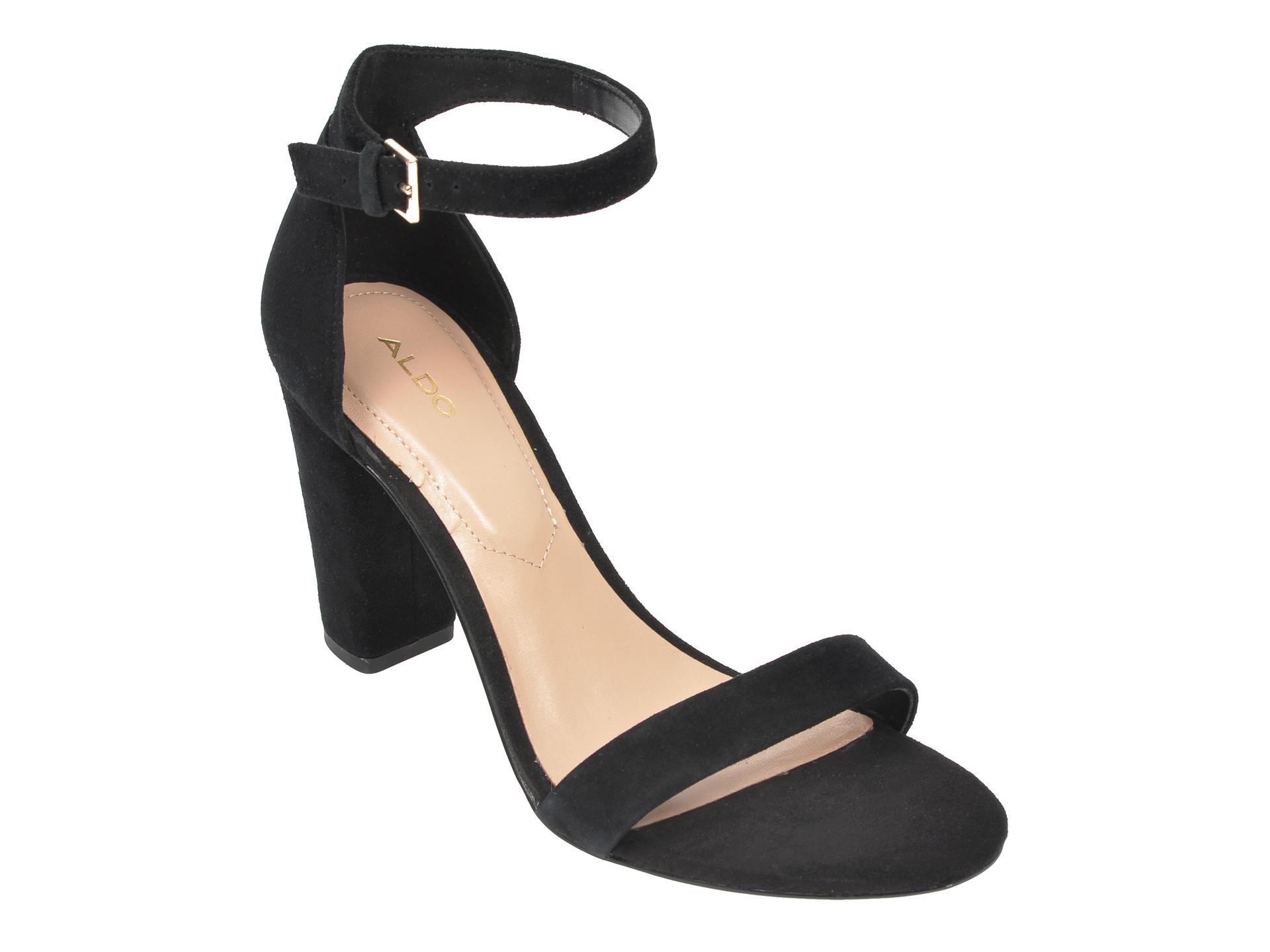 Sandale ALDO negre, Jerayclya001, din piele intoarsa imagine otter.ro
