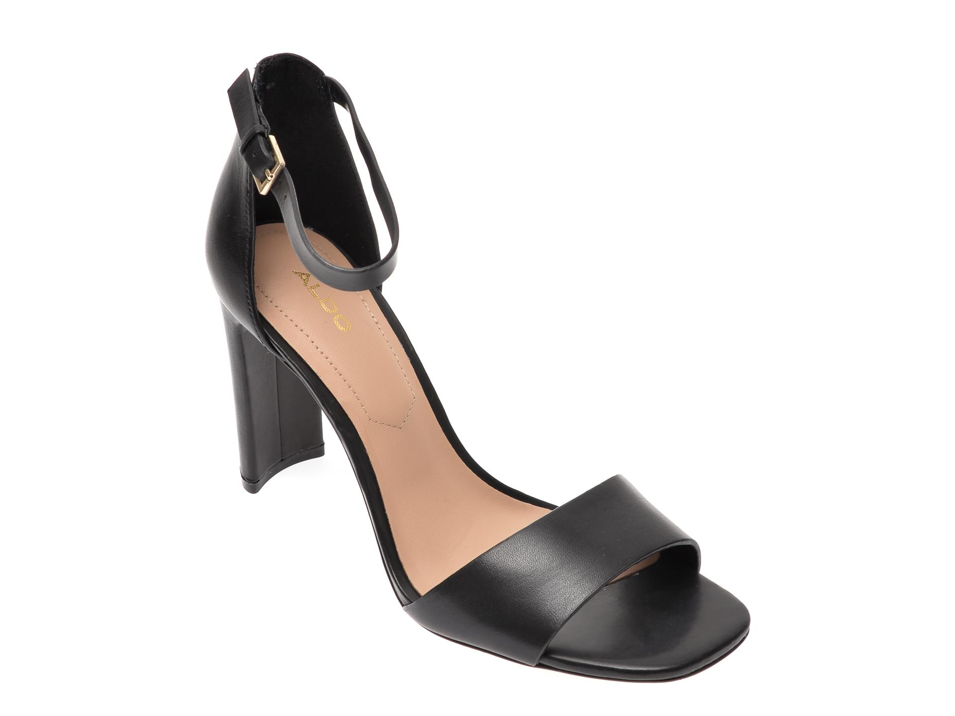 Sandale ALDO negre, Jeremy001, din piele naturala