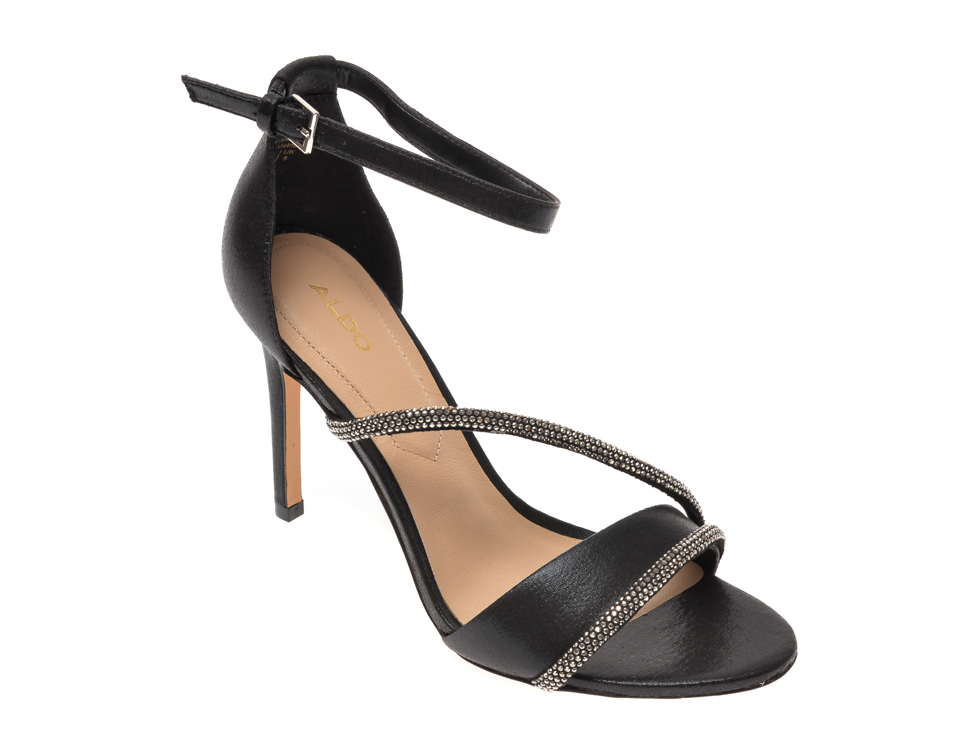 Sandale Aldo Negre, Kuprina001, Din Material Textil
