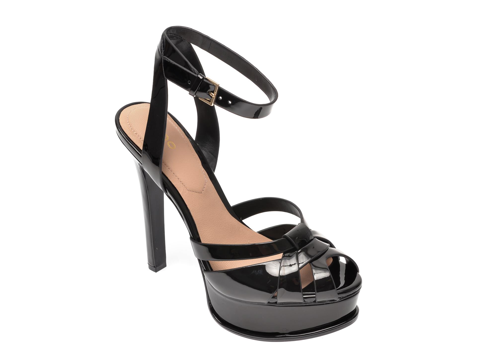 Sandale ALDO negre, Lacla001, din piele ecologica