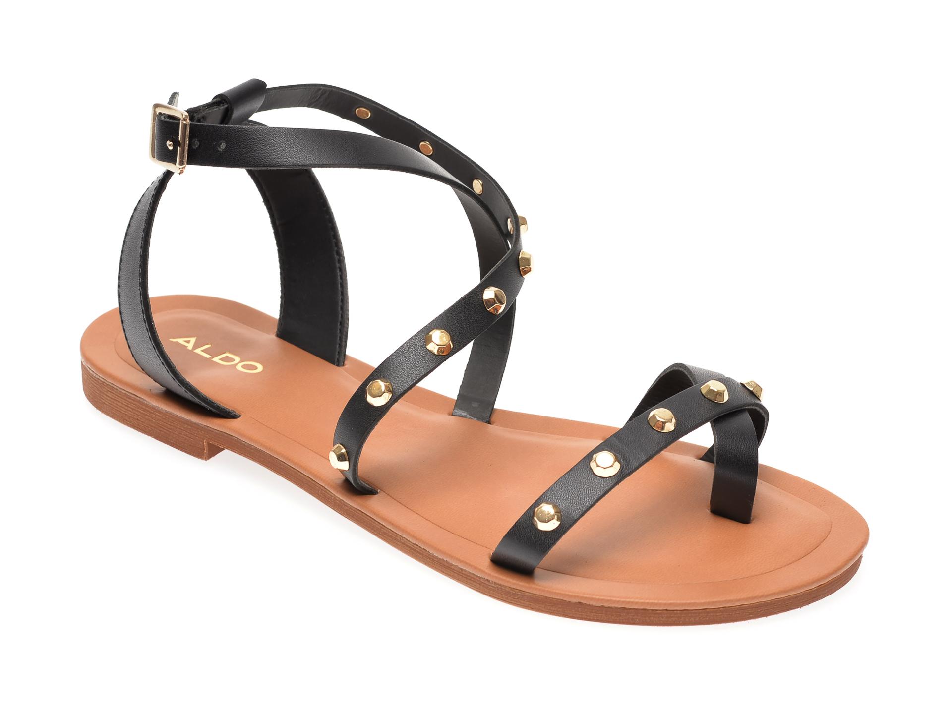 Sandale Aldo Negre, Leila001, Din Piele Naturala