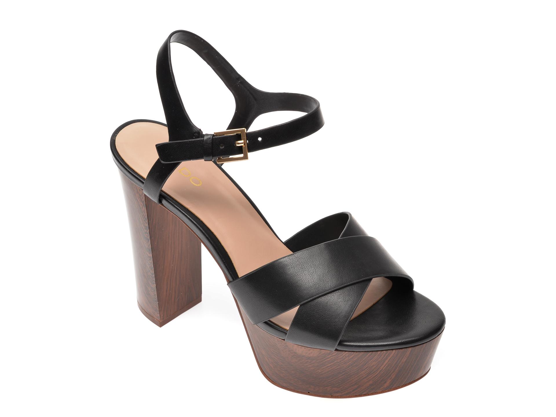 Sandale ALDO negre, Lewarne001, din piele ecologica
