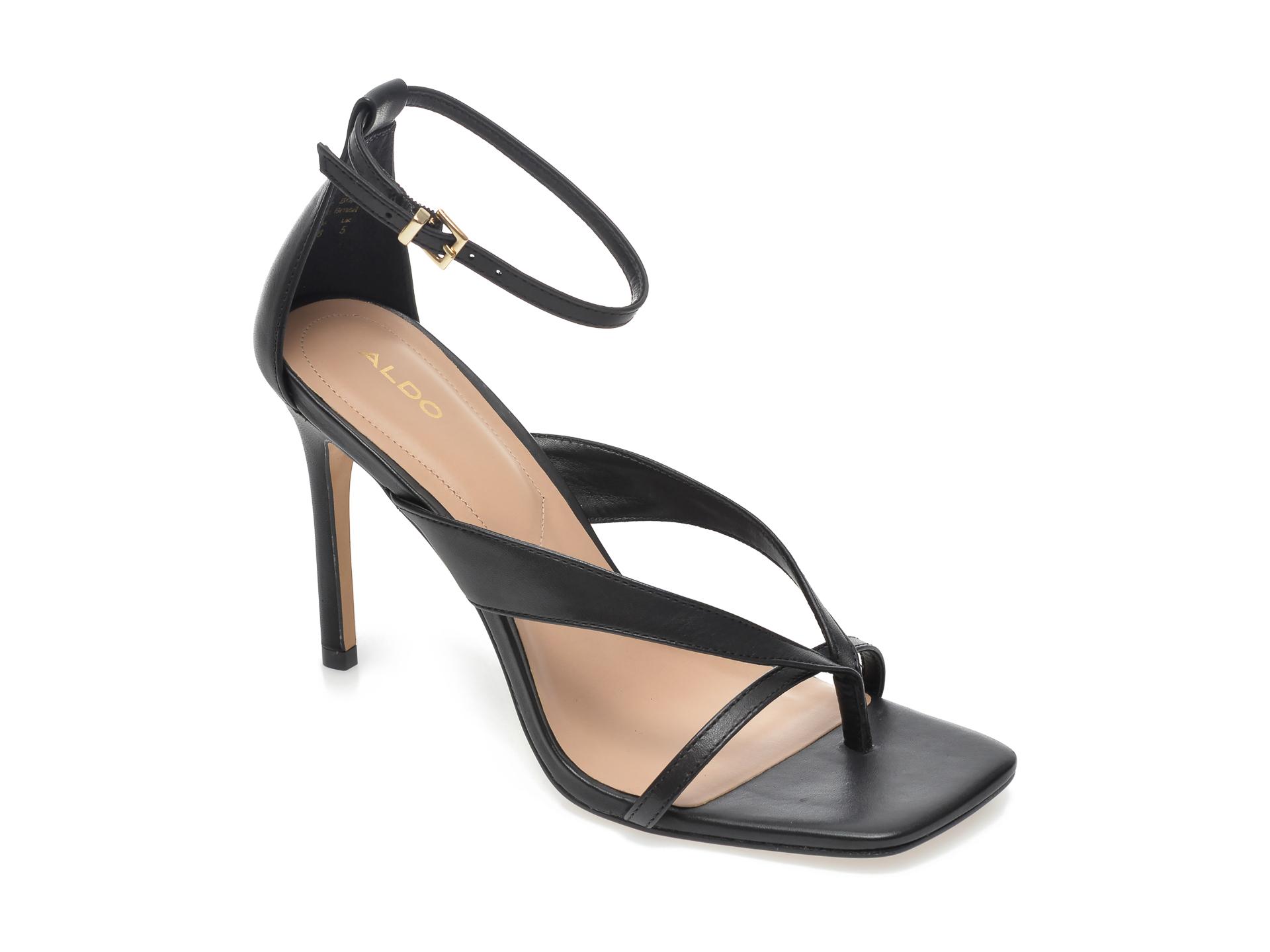 Sandale ALDO negre, Lexie001, din piele naturala imagine otter.ro 2021