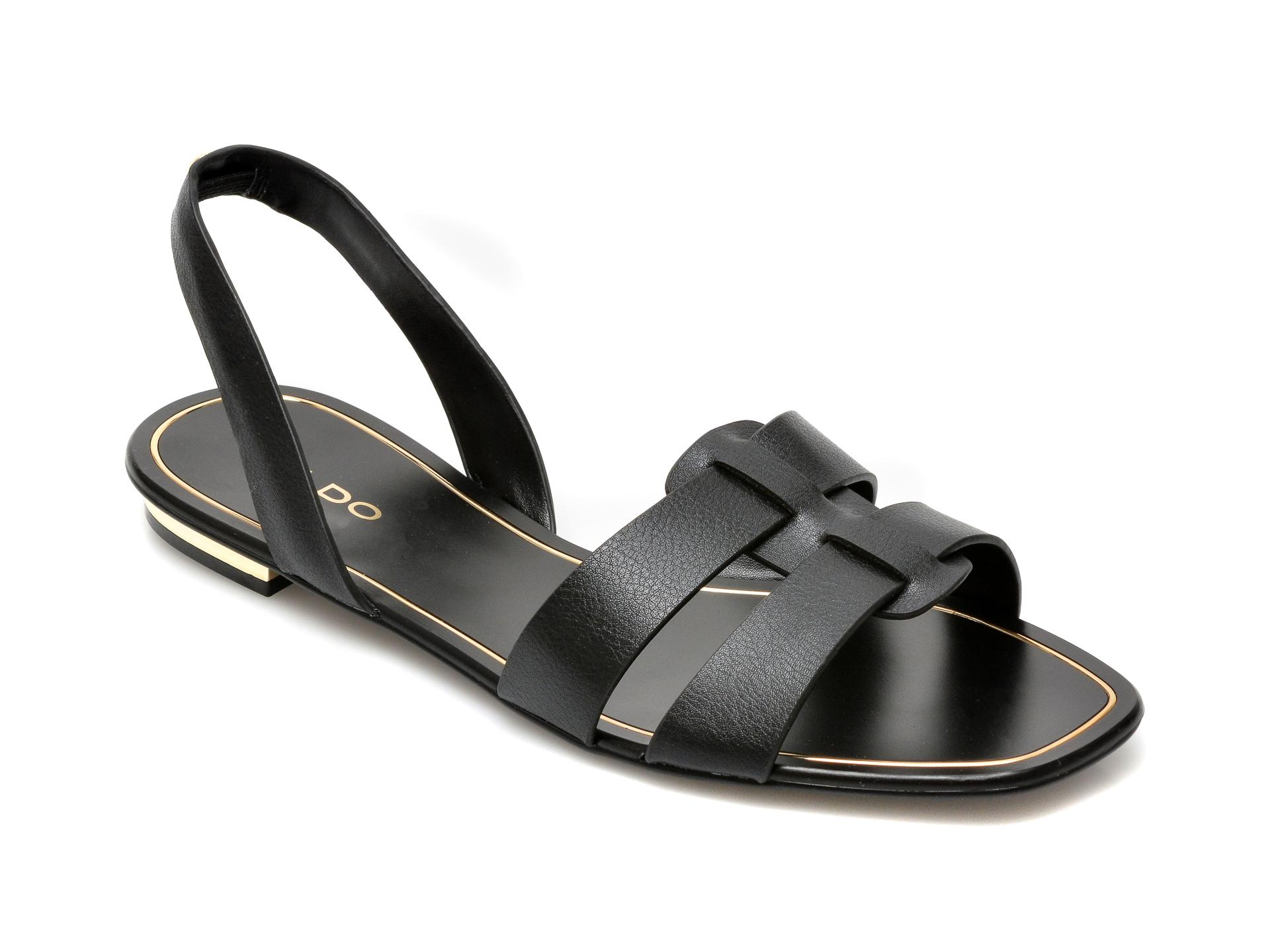 Sandale ALDO negre, Lothathiel001, din piele ecologica imagine otter.ro
