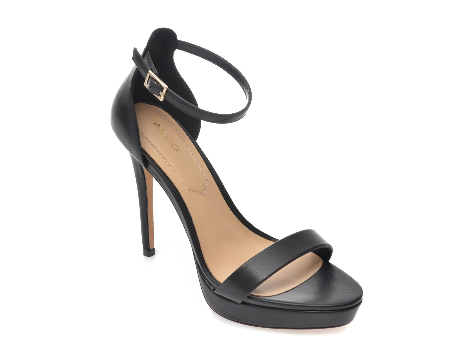 Sandale ALDO negre, Madalene001, din piele ecologica New