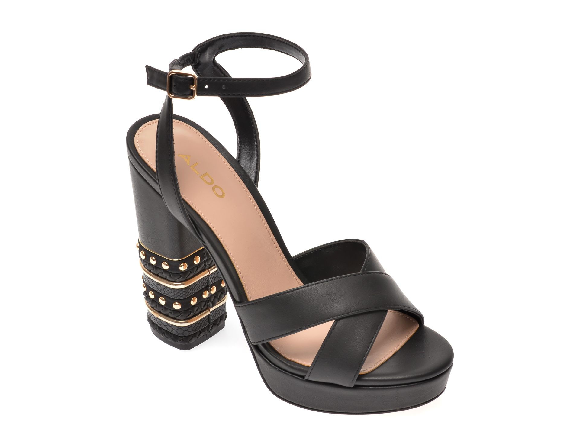 Sandale ALDO negre, Moomba001, din piele ecologica imagine otter.ro 2021