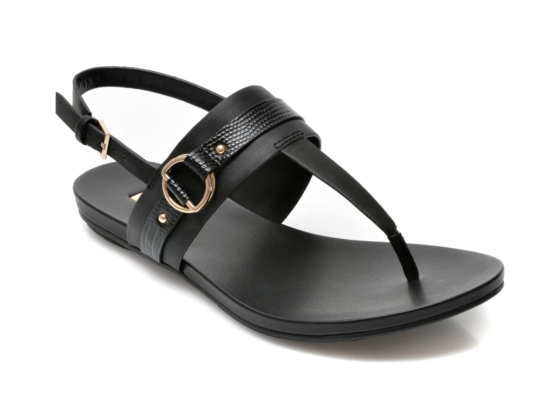 Sandale ALDO negre, Pandra001, din piele ecologica imagine otter.ro