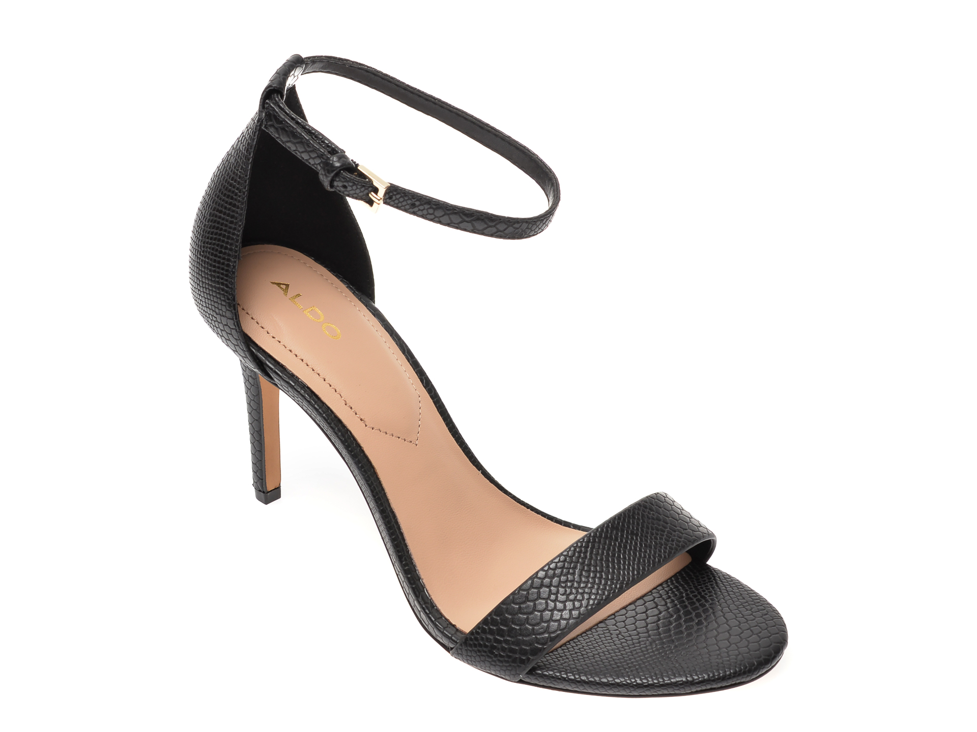 Sandale ALDO negre, Piliria001, din piele ecologica New