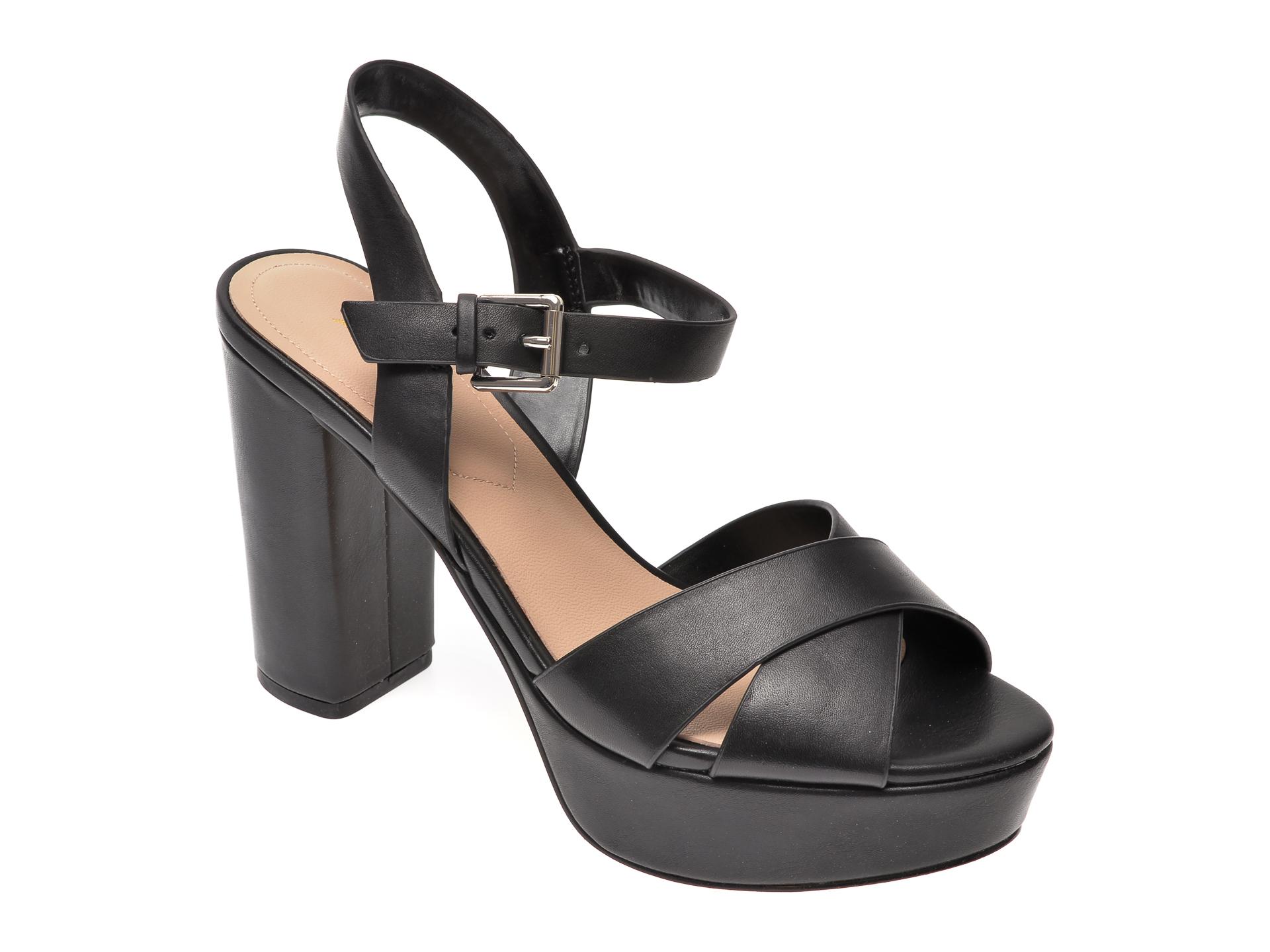 Sandale ALDO negre, Platina001, din piele naturala