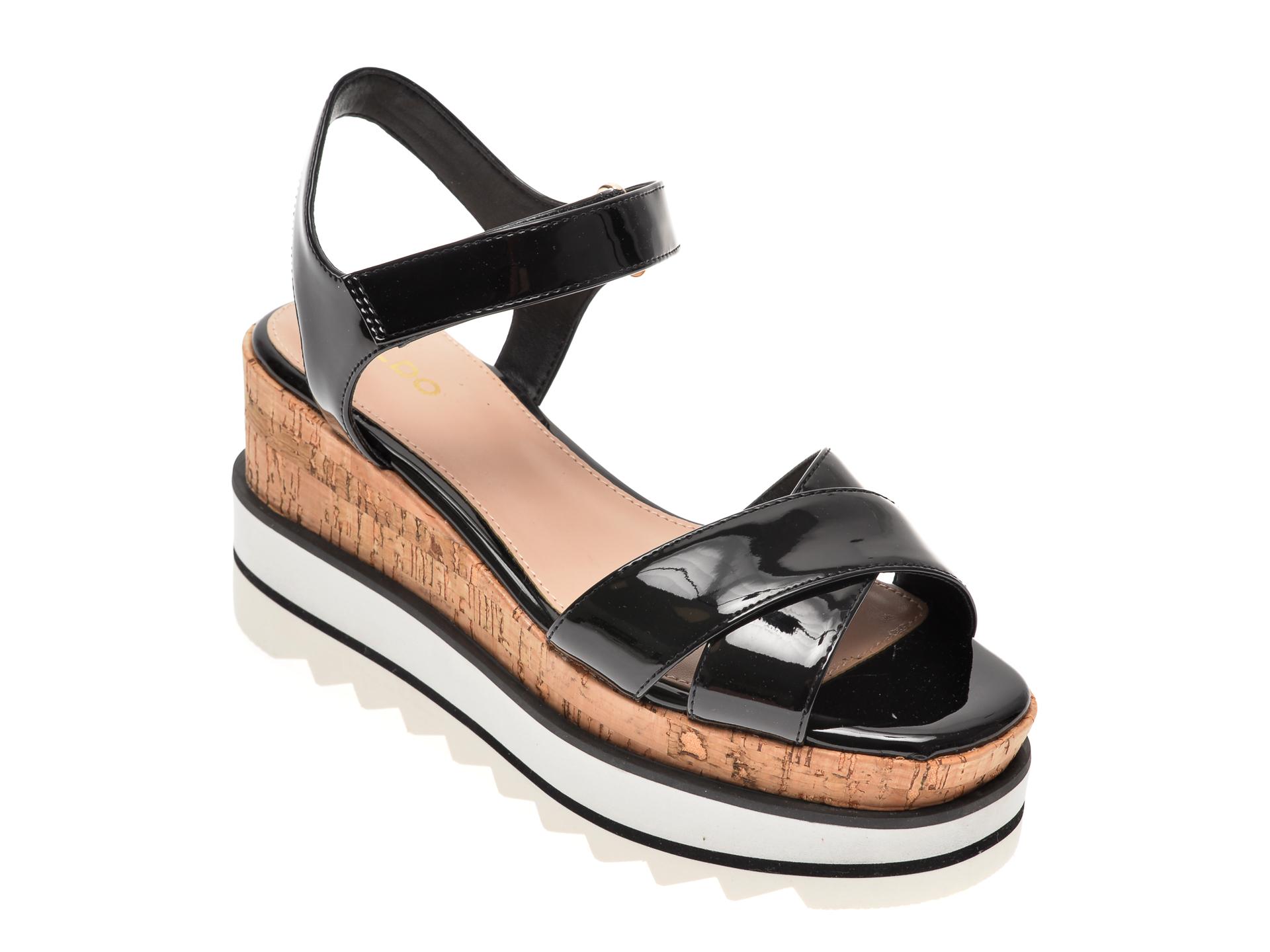 Sandale ALDO negre, Sassy001, din piele ecologica
