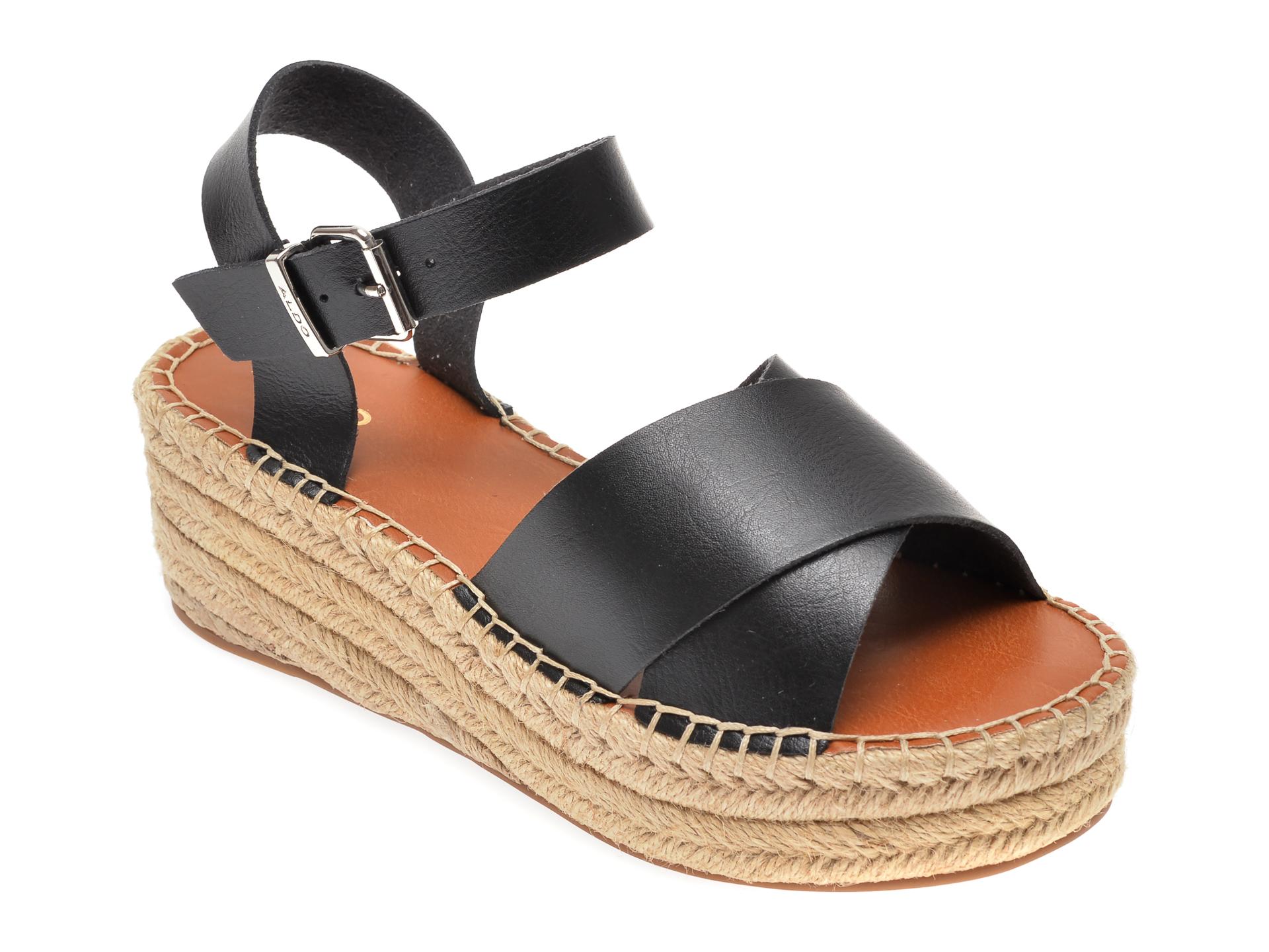Sandale ALDO negre, Tineviel001, din piele ecologica