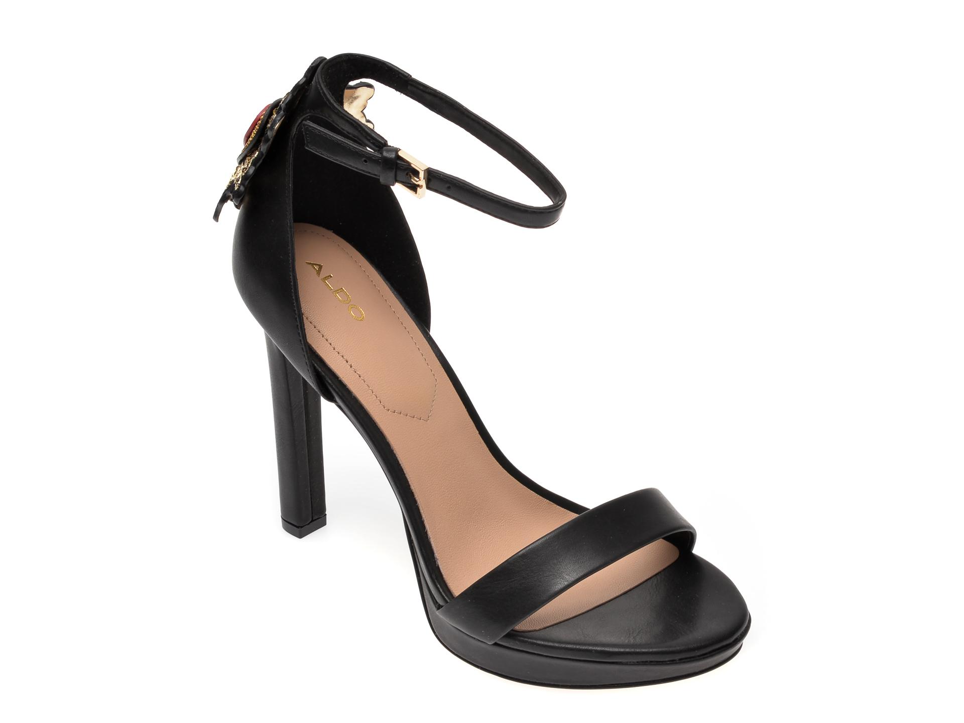Sandale ALDO negre, Valentini001, din piele ecologica imagine otter.ro 2021