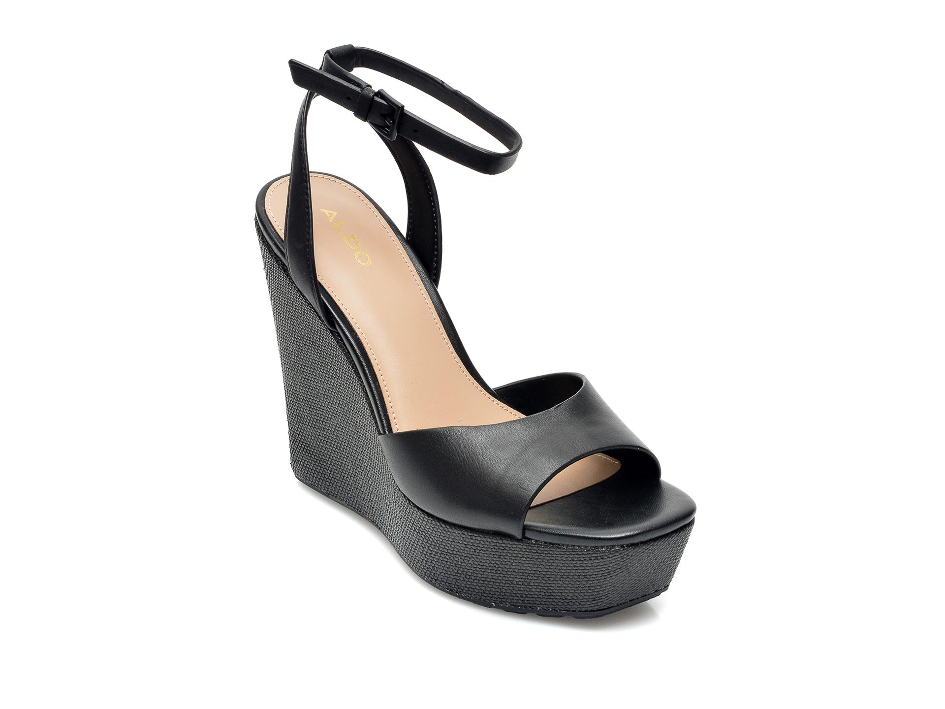 Sandale ALDO negre, Verly001, din piele ecologica imagine otter.ro 2021