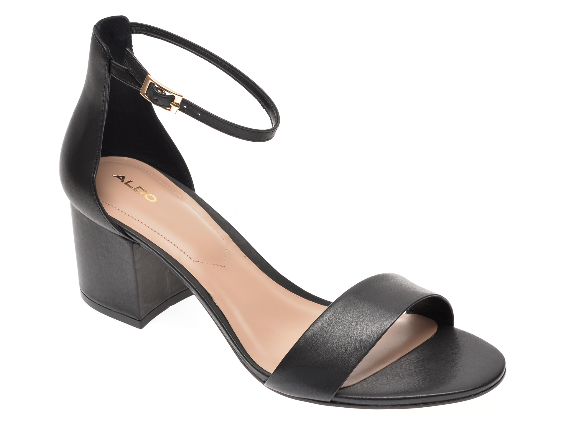 Sandale ALDO negre, Villarosa009, din piele naturala imagine otter.ro