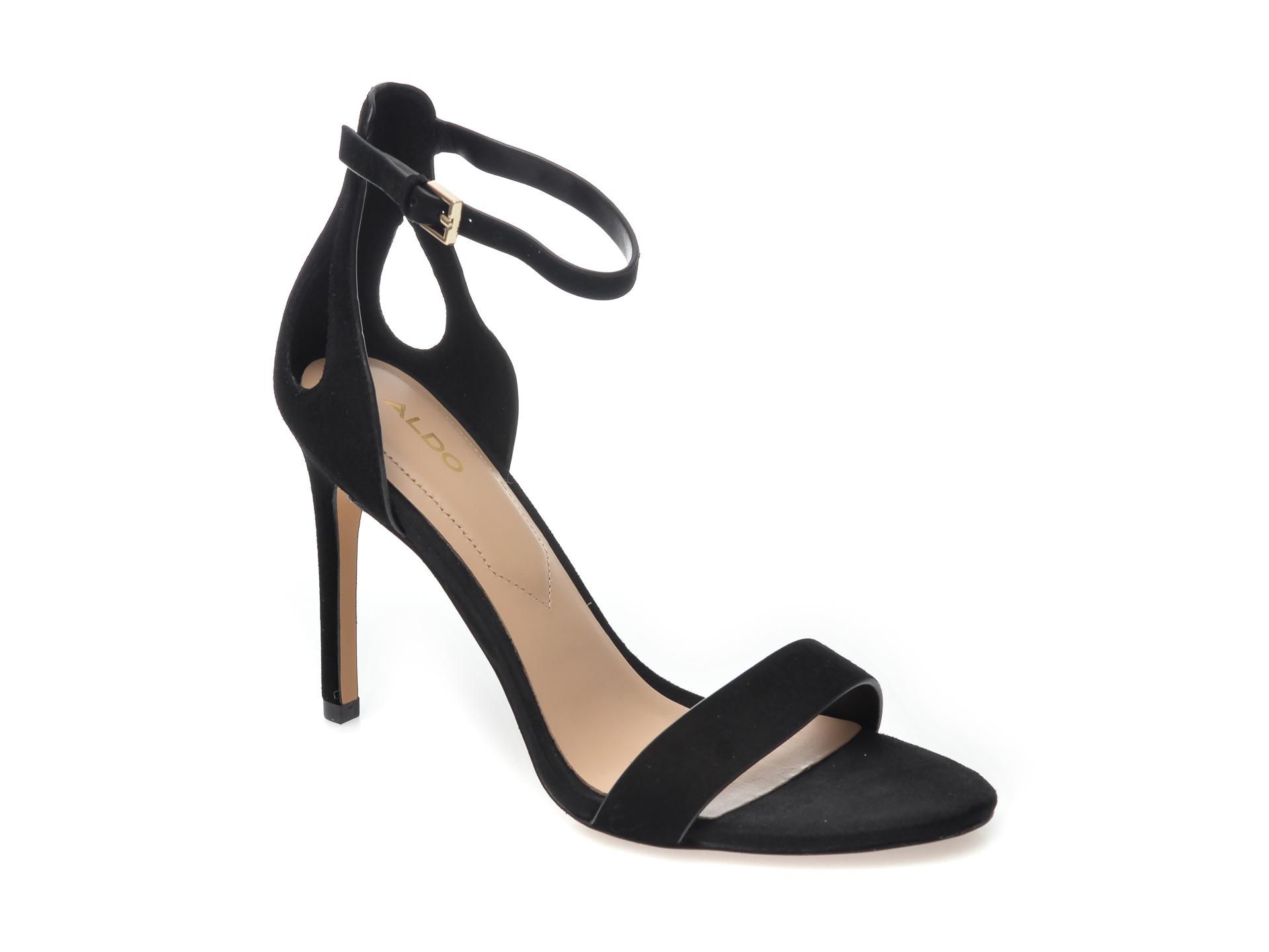 Sandale ALDO negre, Violla001, din piele intoarsa imagine otter.ro 2021
