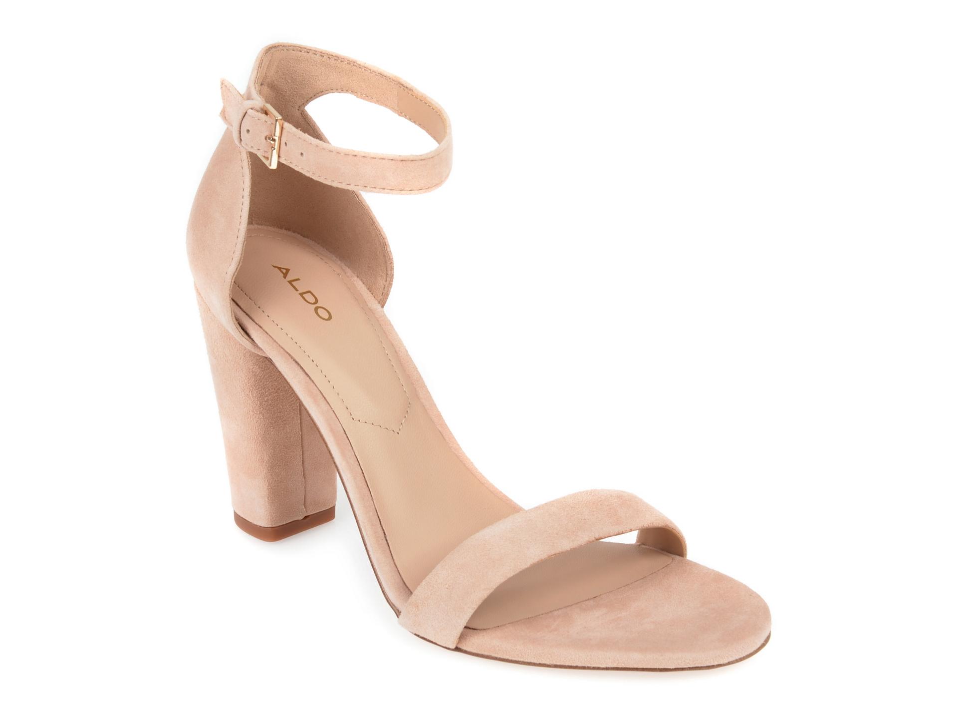 Sandale ALDO nude, Jerayclya270, din piele intoarsa