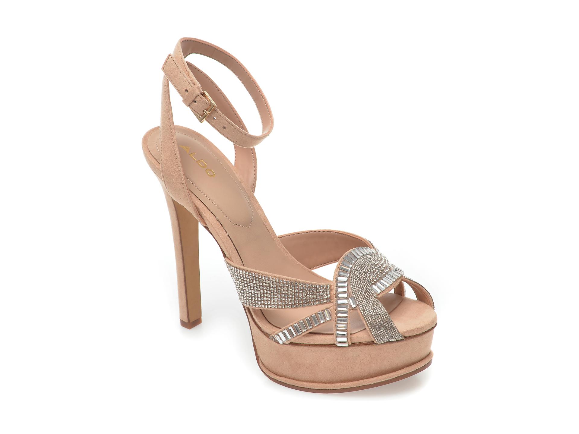Sandale ALDO nude, Laclabling270, din piele ecologica New