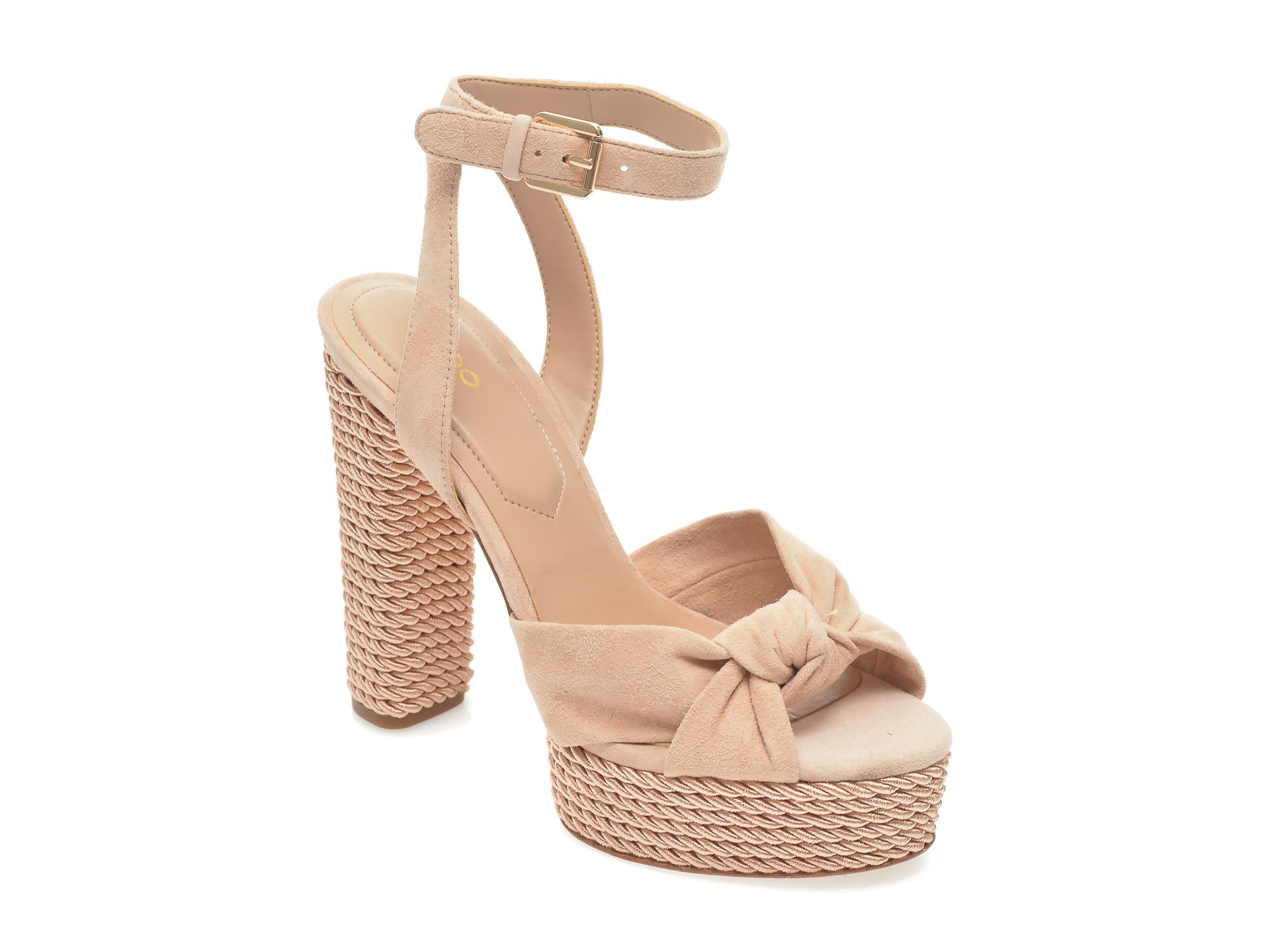 Sandale ALDO nude, Lauriers270, din piele intoarsa New