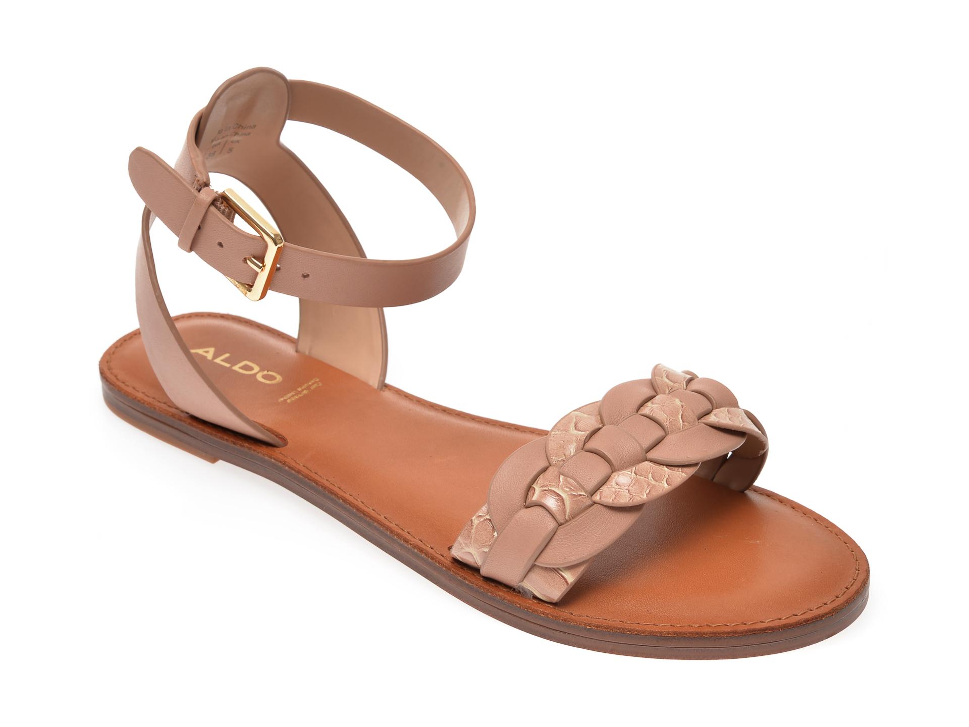 Sandale ALDO nude, Ligaria270, din piele ecologica imagine