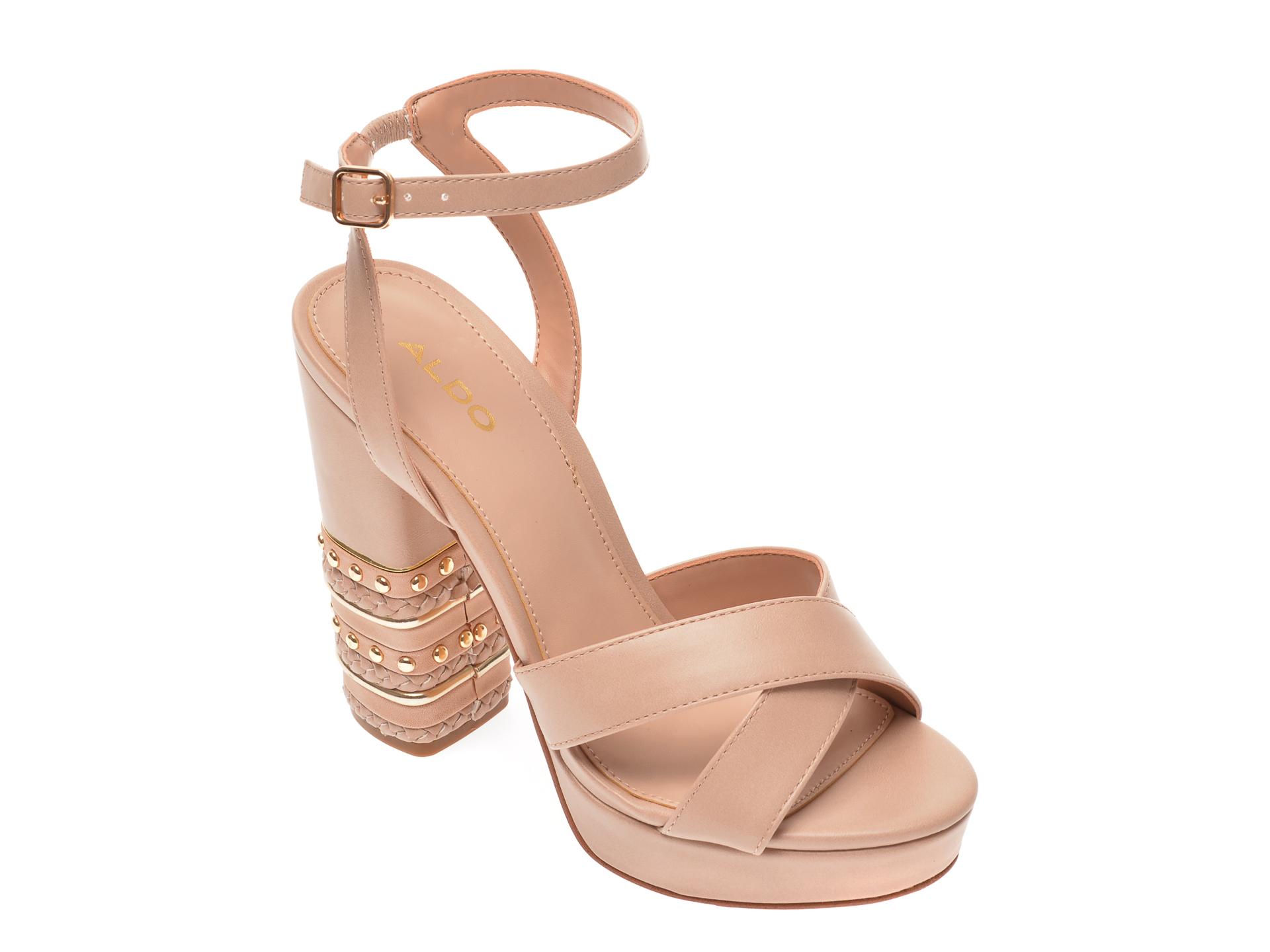 Sandale ALDO nude, Moomba680, din piele ecologica