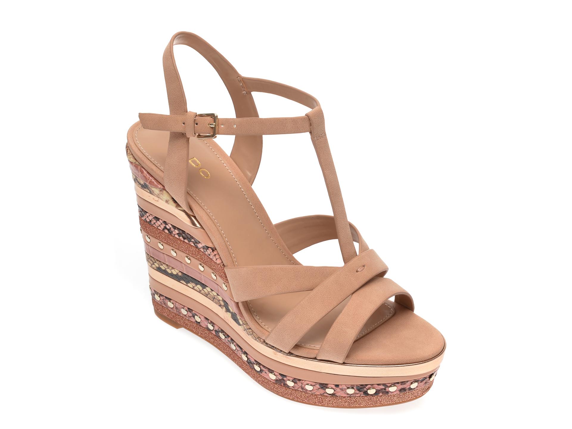 Sandale ALDO nude, Nydaycia240, din piele ecologica
