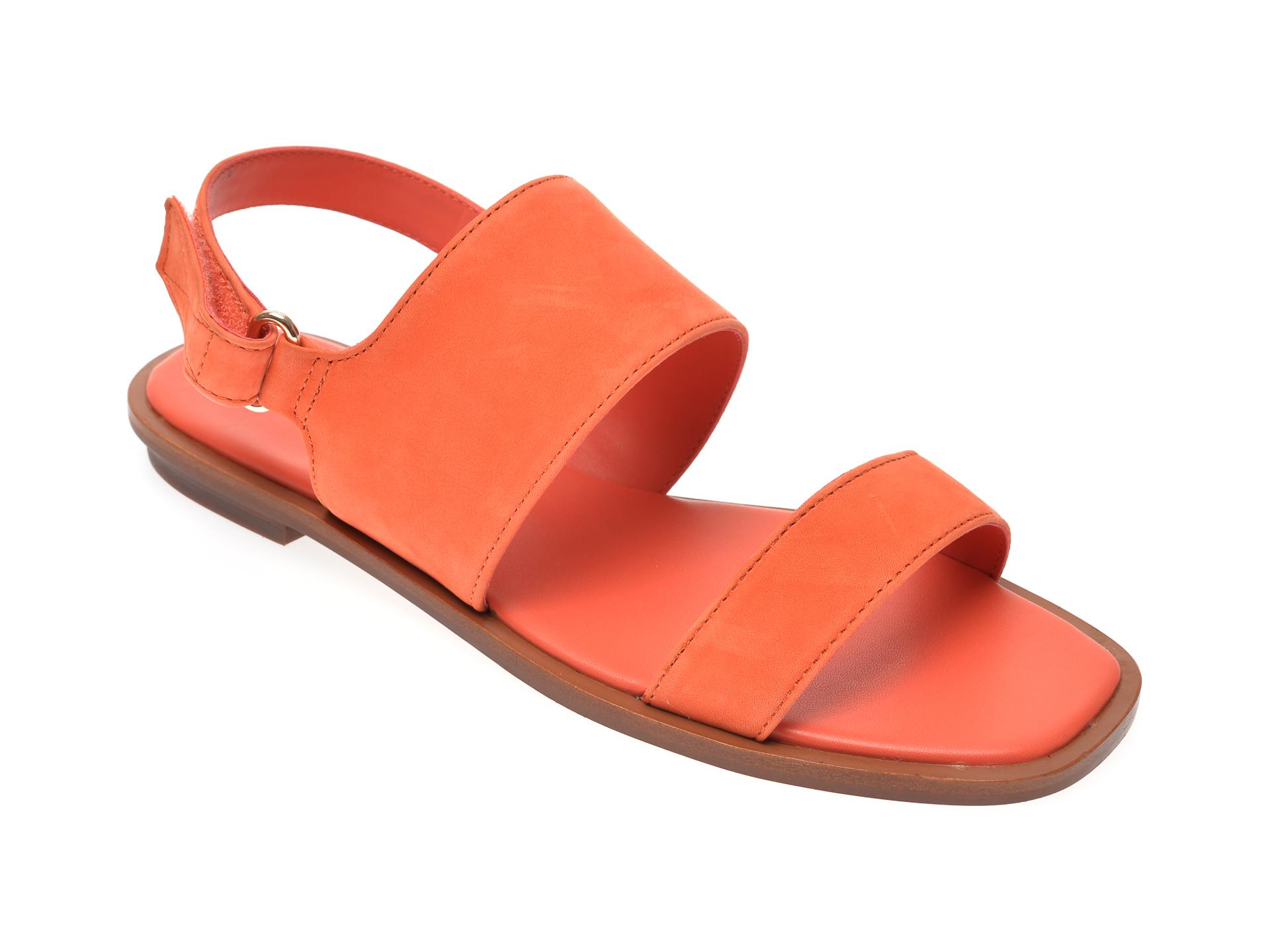Sandale ALDO portocalii, Sula800, din nabuc imagine otter.ro