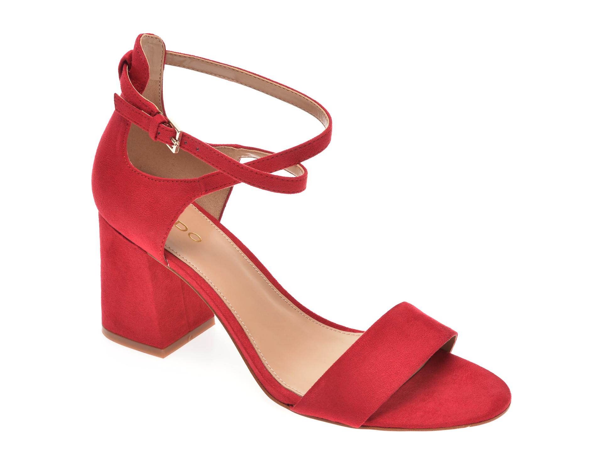 Sandale ALDO rosii, Aboedia600, din piele ecologica