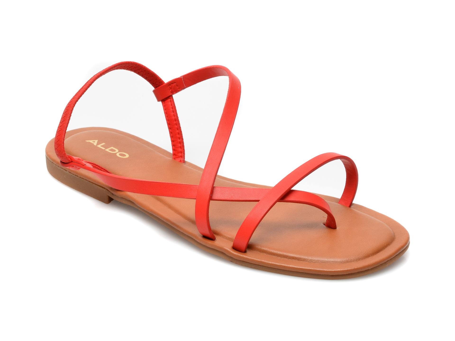 Sandale ALDO rosii, Broasa600, din piele ecologica imagine otter.ro
