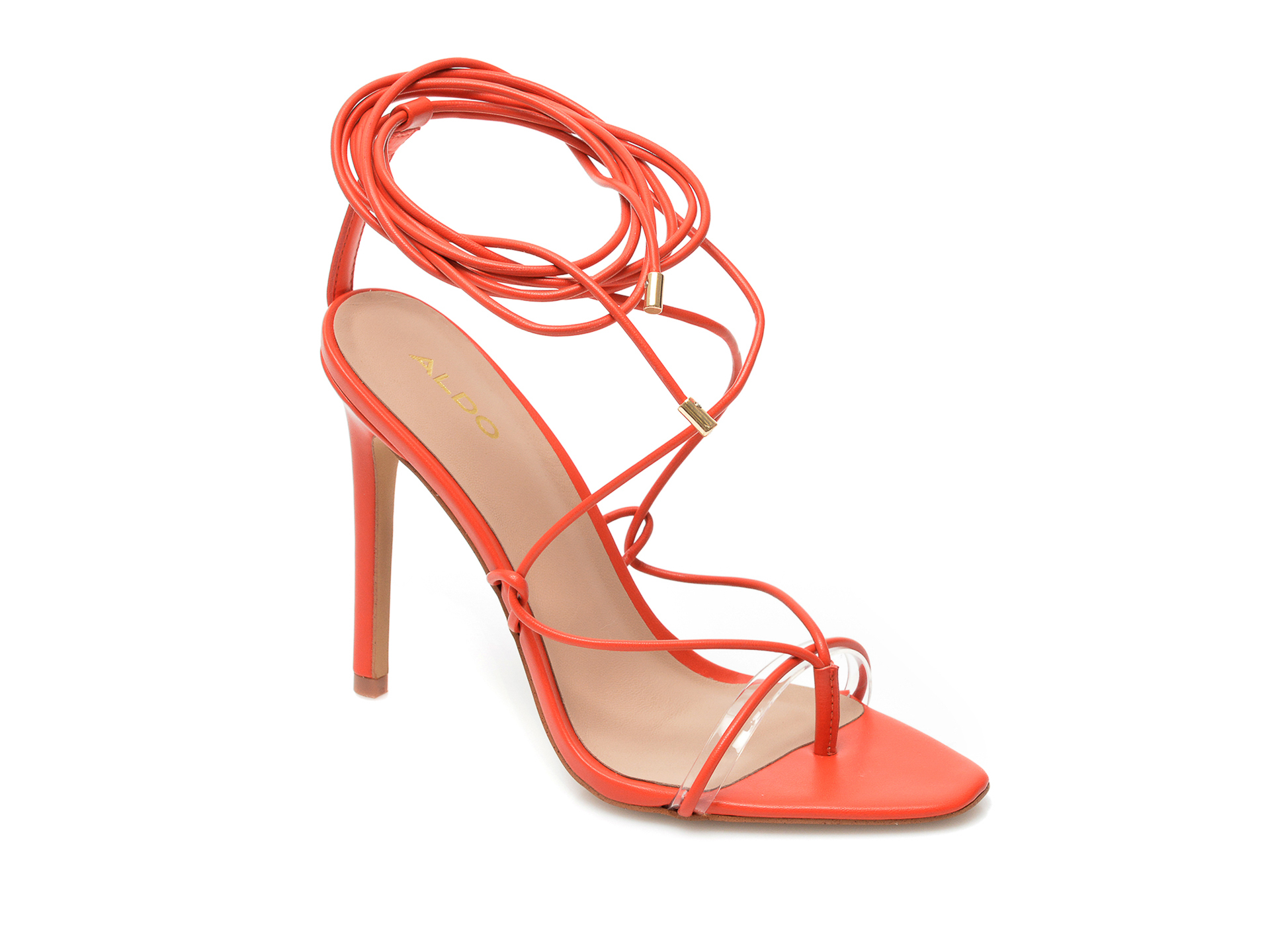 Sandale ALDO rosii, Glaosa800, din piele ecologica imagine otter.ro 2021