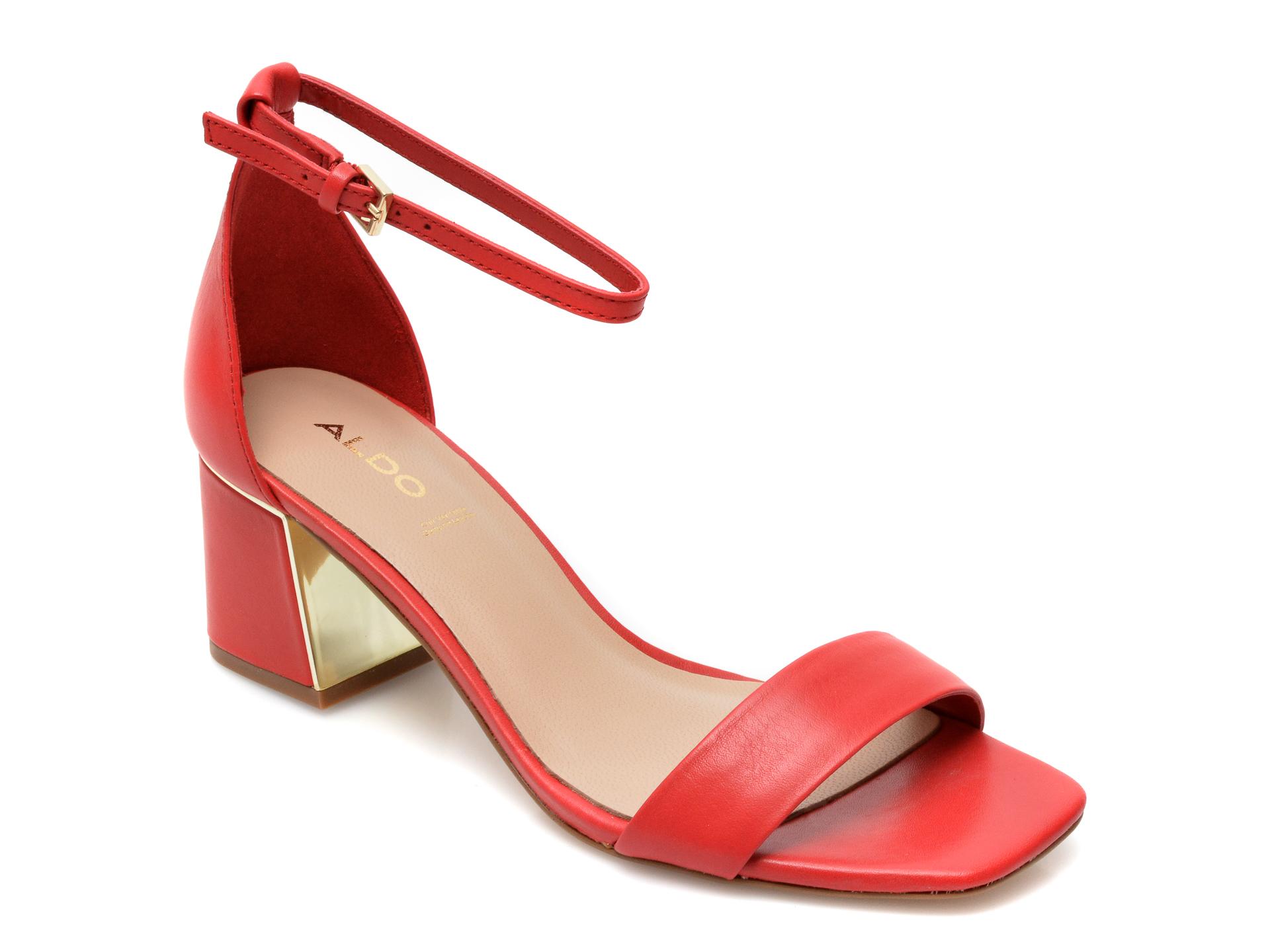 Sandale ALDO rosii, Kedeaviel600, din piele naturala imagine otter.ro 2021