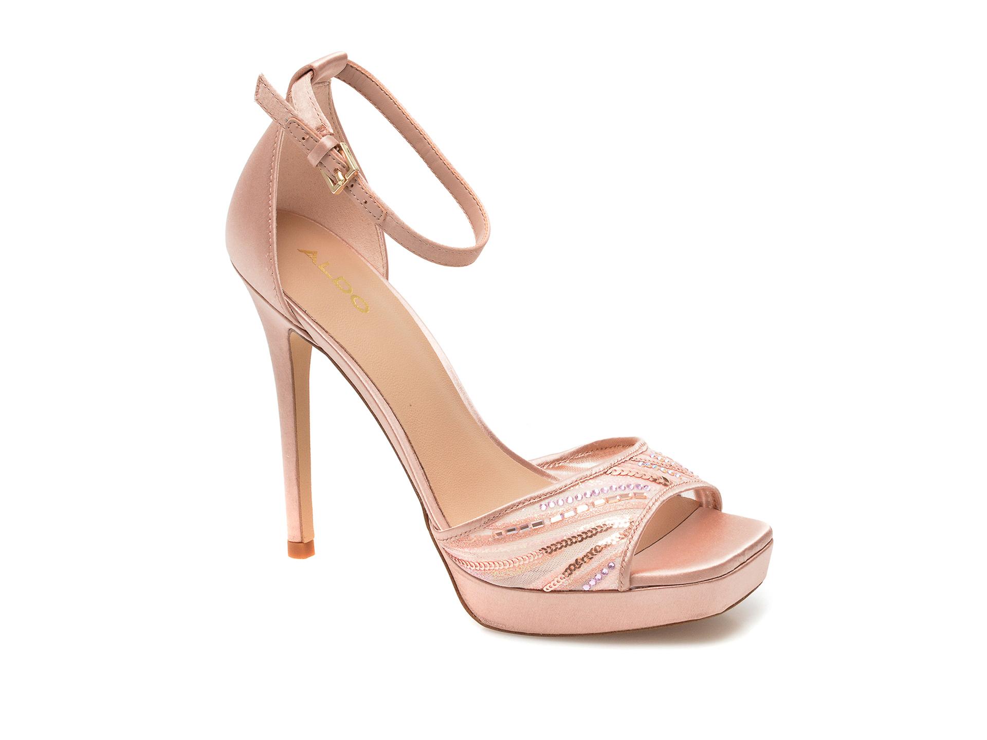 Sandale ALDO roz, 13258813, din material textil imagine otter.ro 2021
