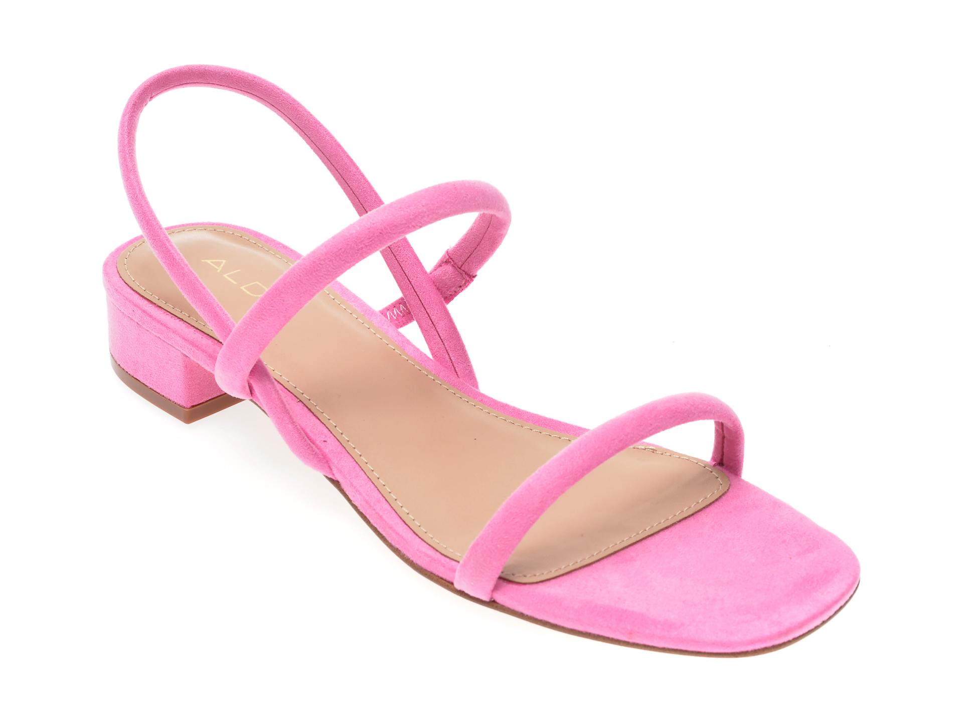 Sandale ALDO roz, Candidly670, din material textil New