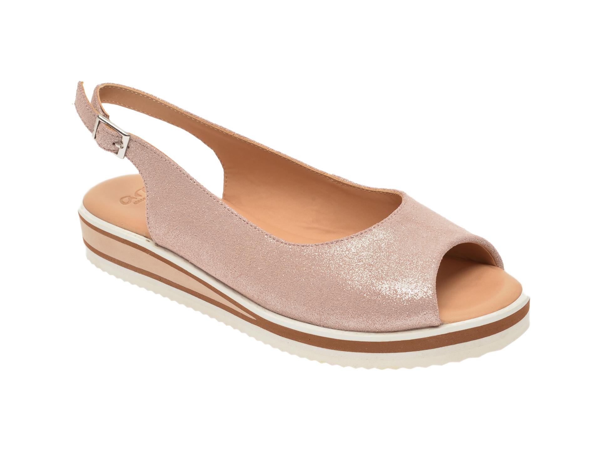 Sandale ARA roz, 14740, din piele intoarsa