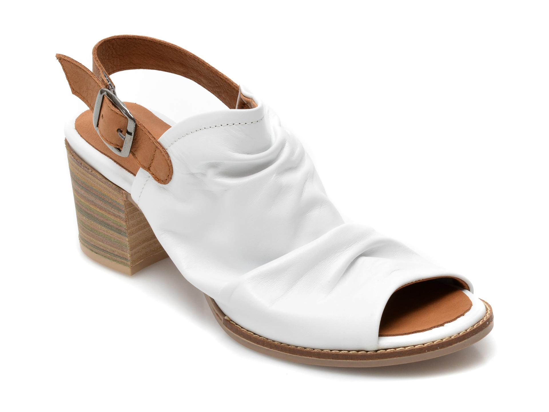 Sandale BABOOS albe, 1702, din piele naturala imagine otter.ro 2021