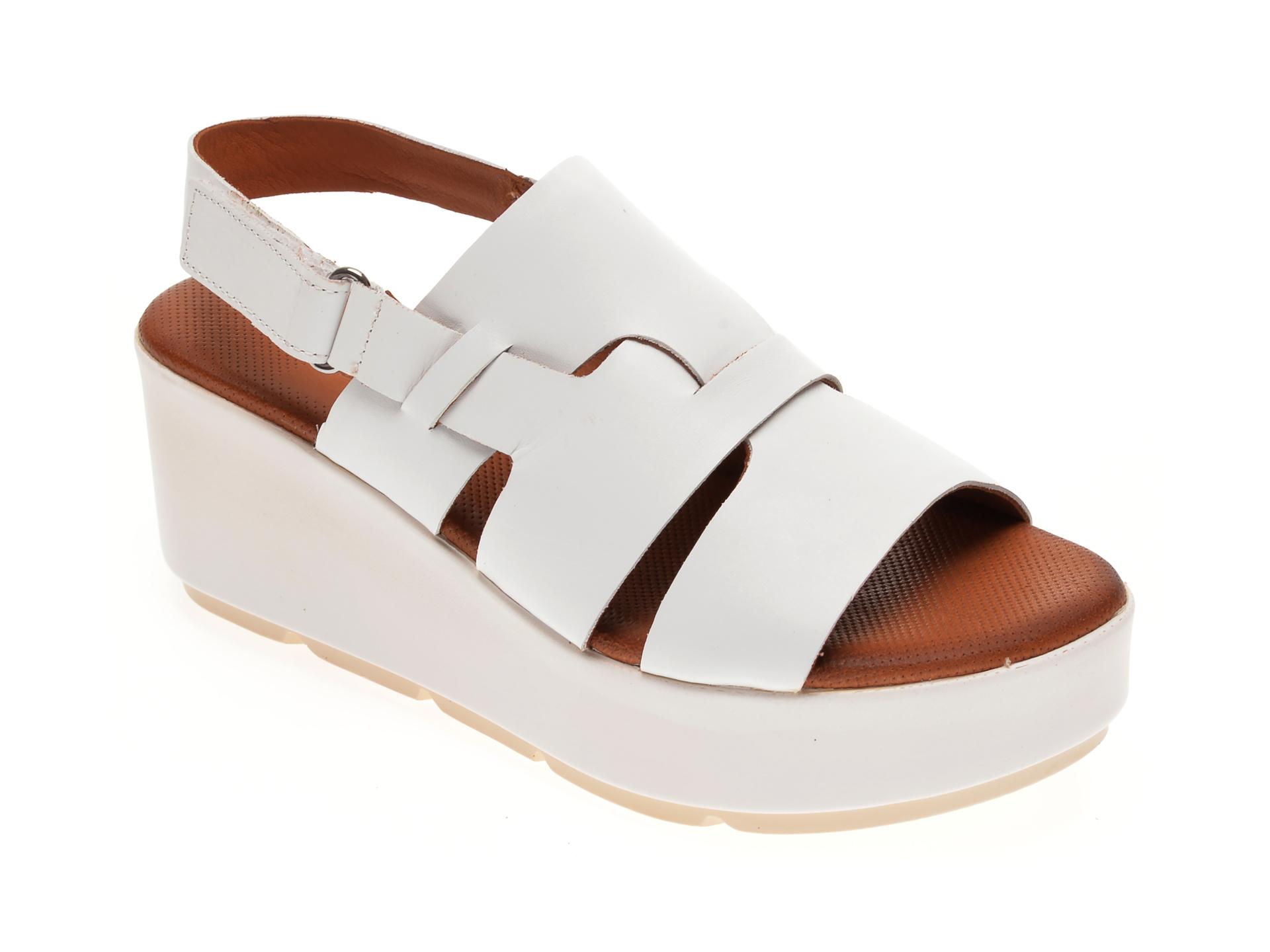 Sandale BABOOS albe, 2519, din piele naturala