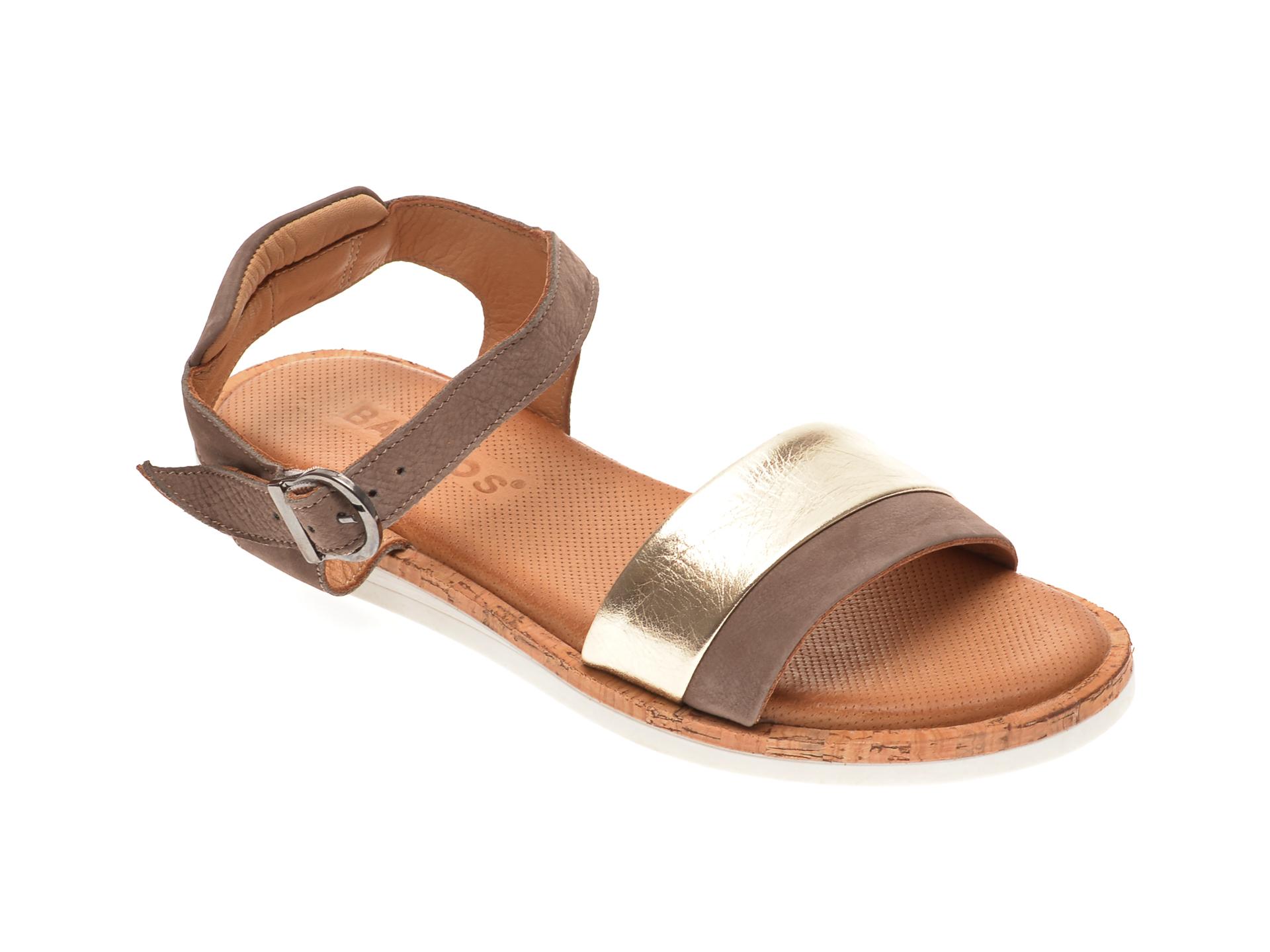Sandale BABOOS aurii, 3101, din piele naturala imagine