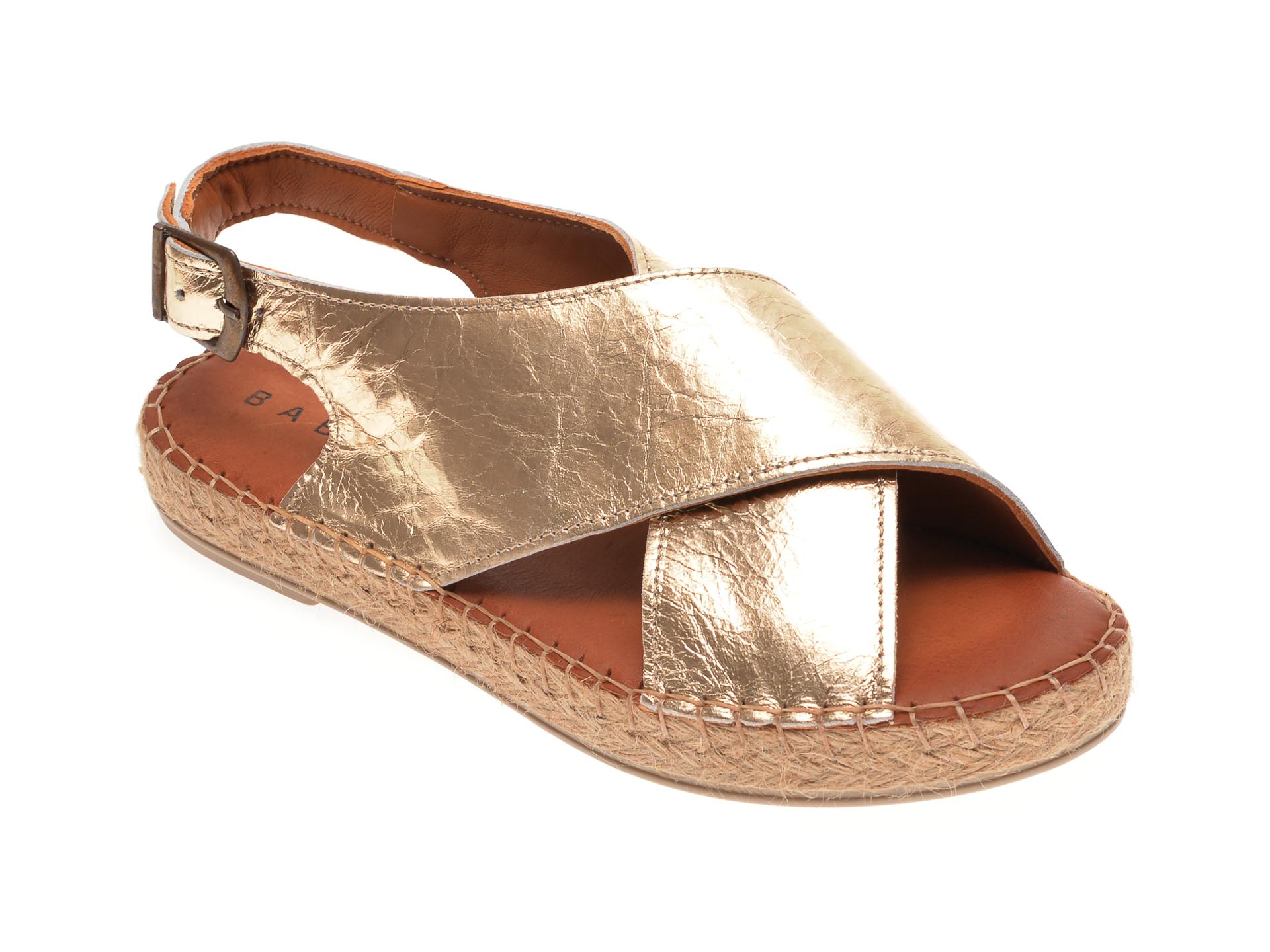 Sandale BABOOS aurii, R05, din piele naturala New