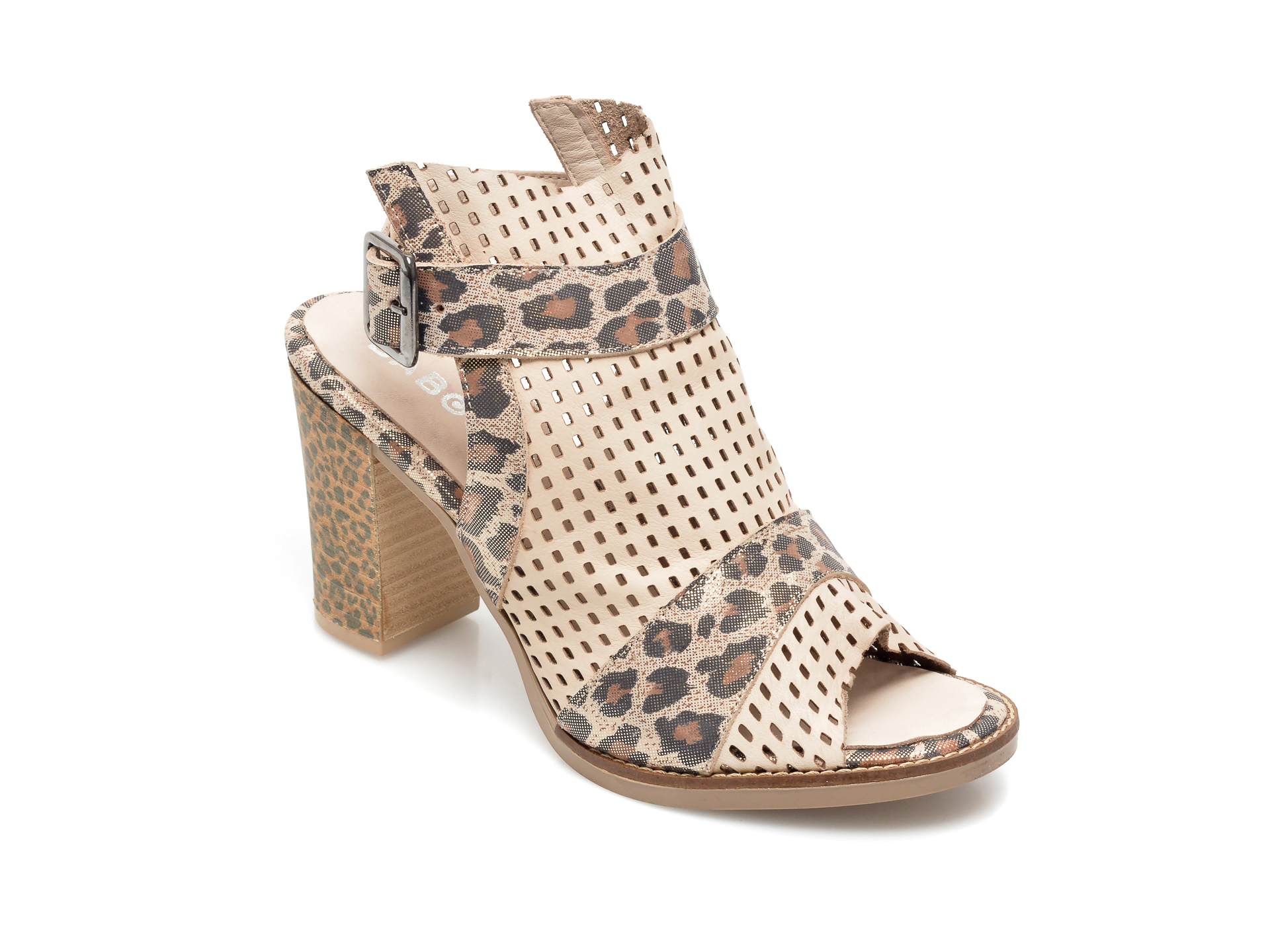 Sandale BABOOS bej, 1601, din piele naturala imagine otter.ro 2021