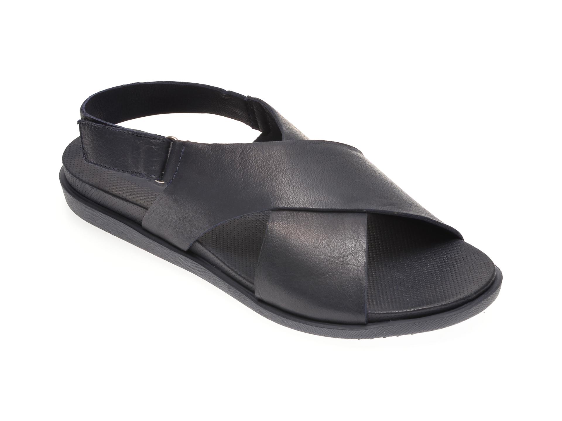 Sandale BABOOS bleumarin, 1401, din piele naturala