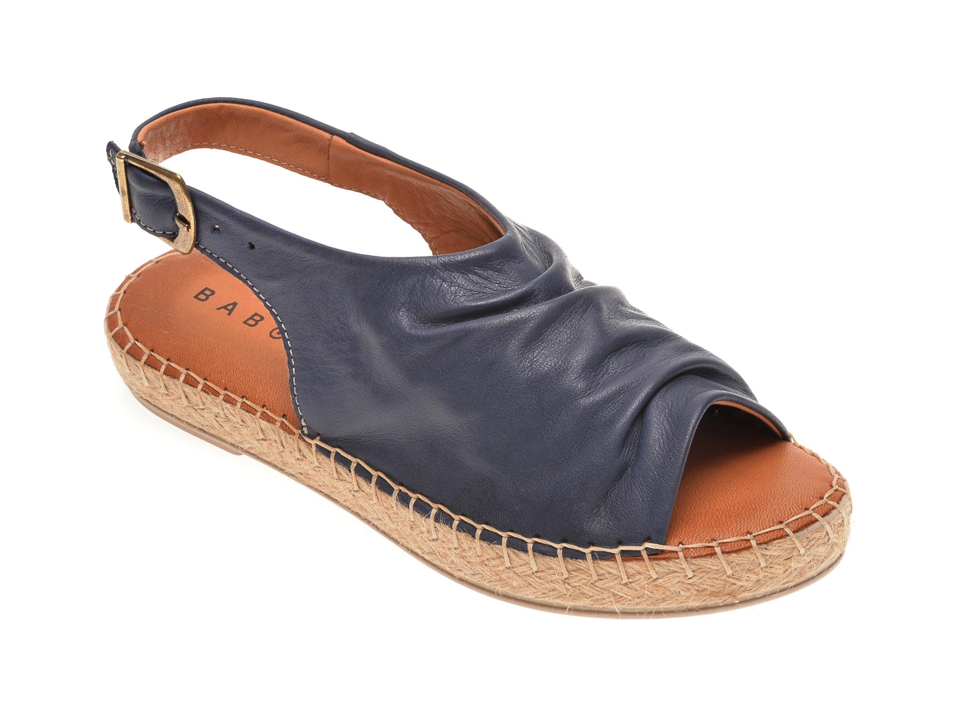 Sandale BABOOS bleumarin, R06, din piele naturala
