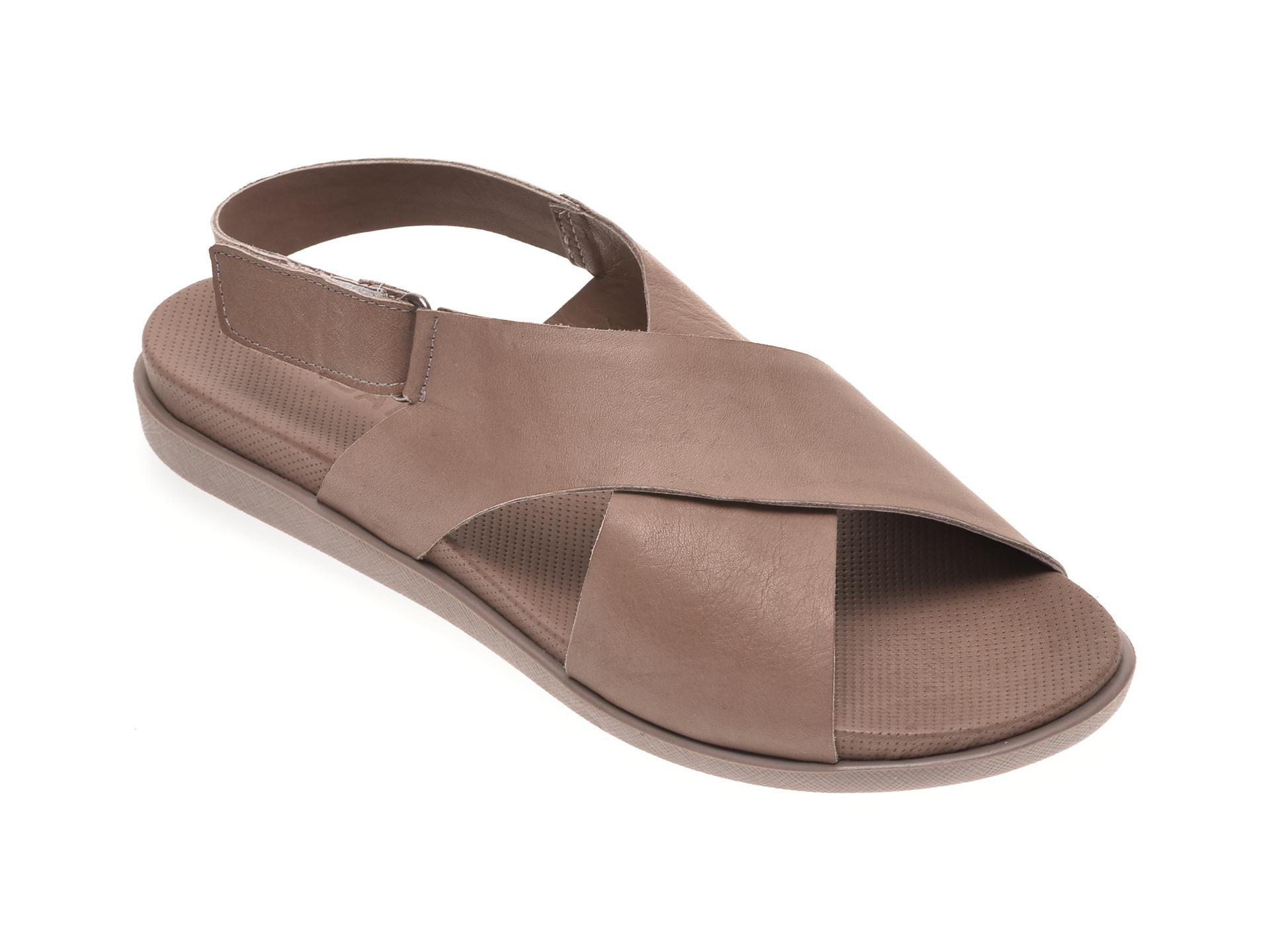 Sandale BABOOS gri, 1401, din piele naturala