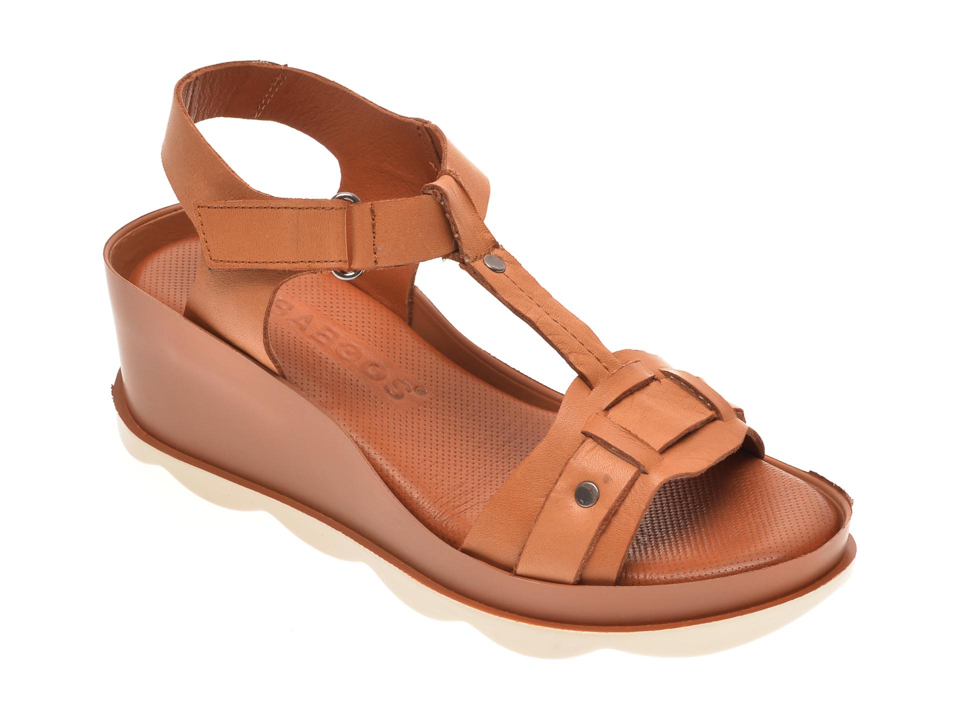 Sandale BABOOS maro, 0502, din piele naturala New