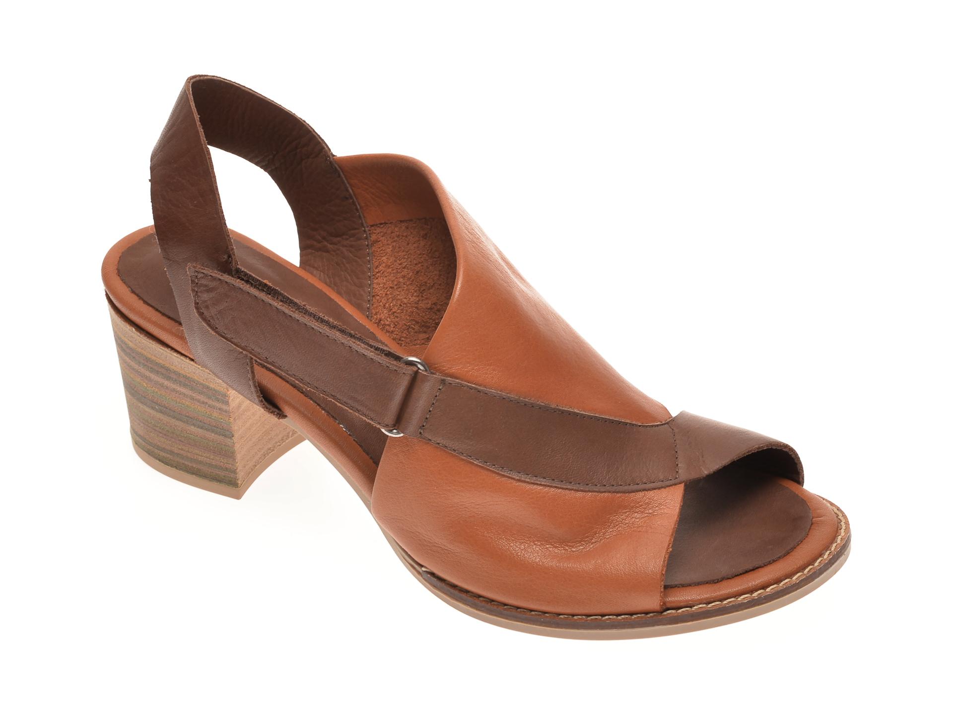 Sandale BABOOS maro, 1703, din piele naturala