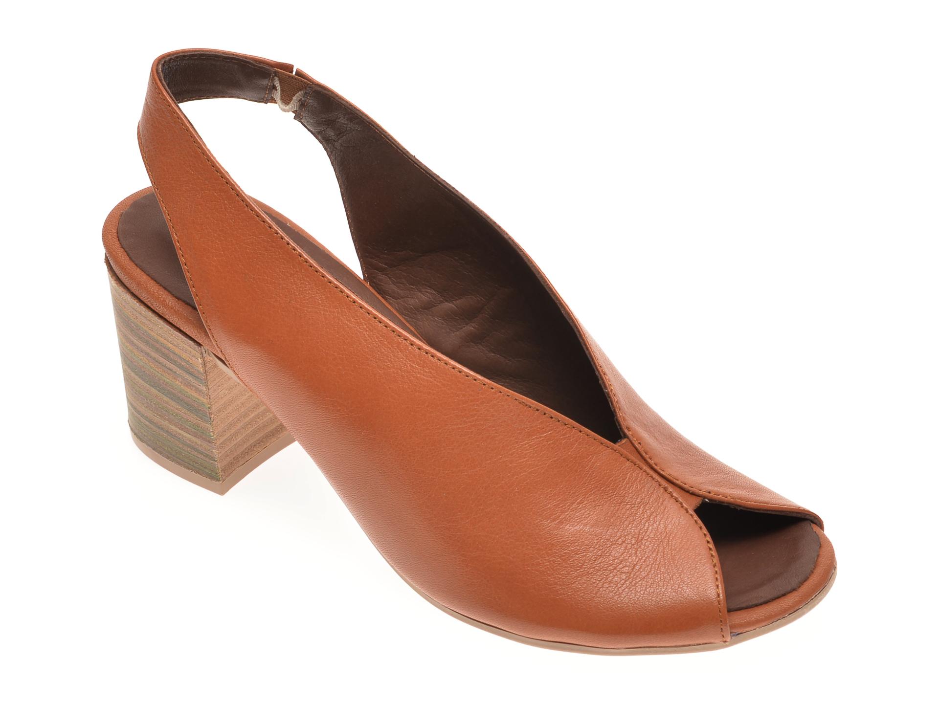 Sandale BABOOS maro, 1806, din piele naturala