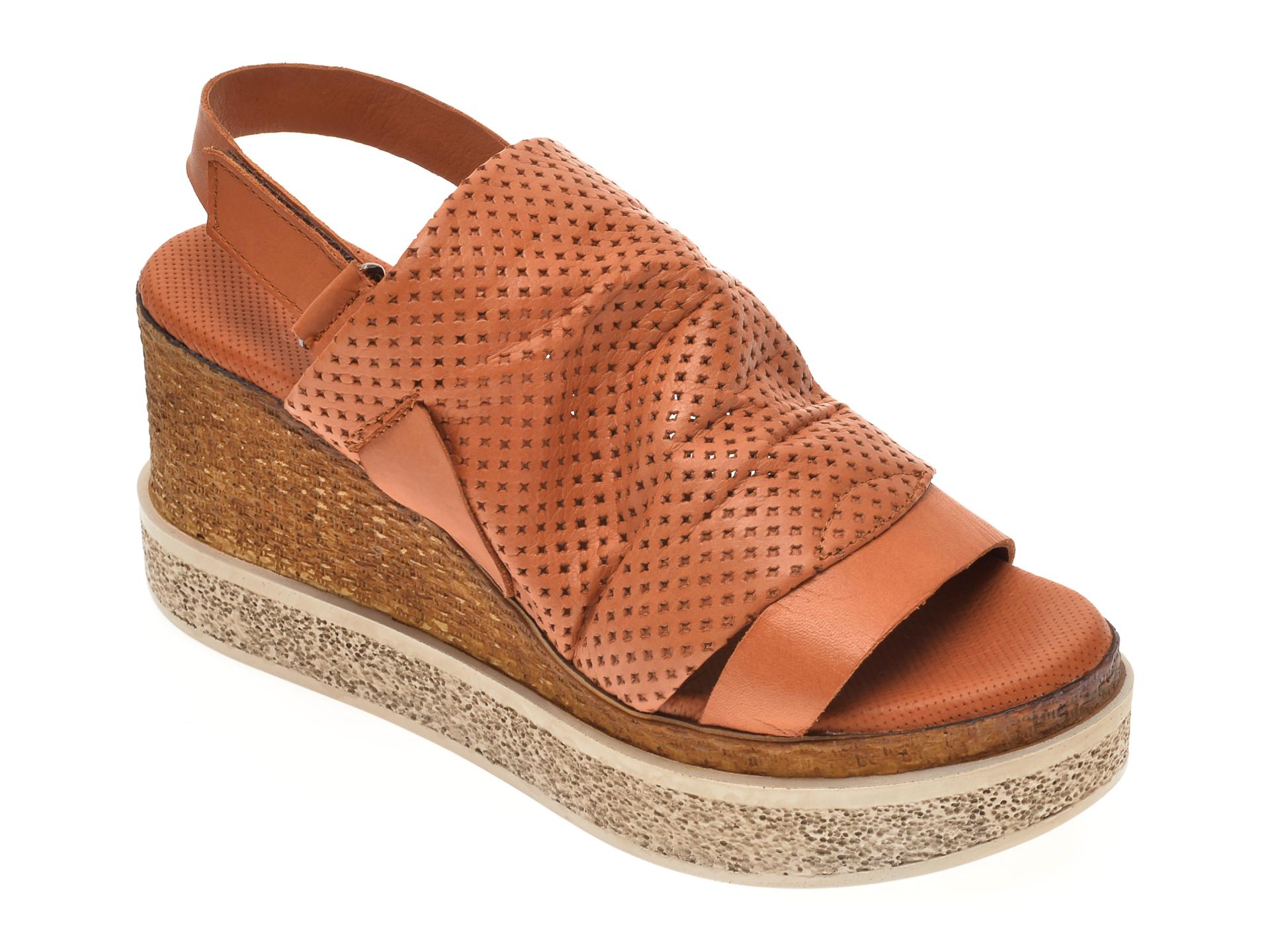 Sandale BABOOS maro, 852507, din piele naturala imagine