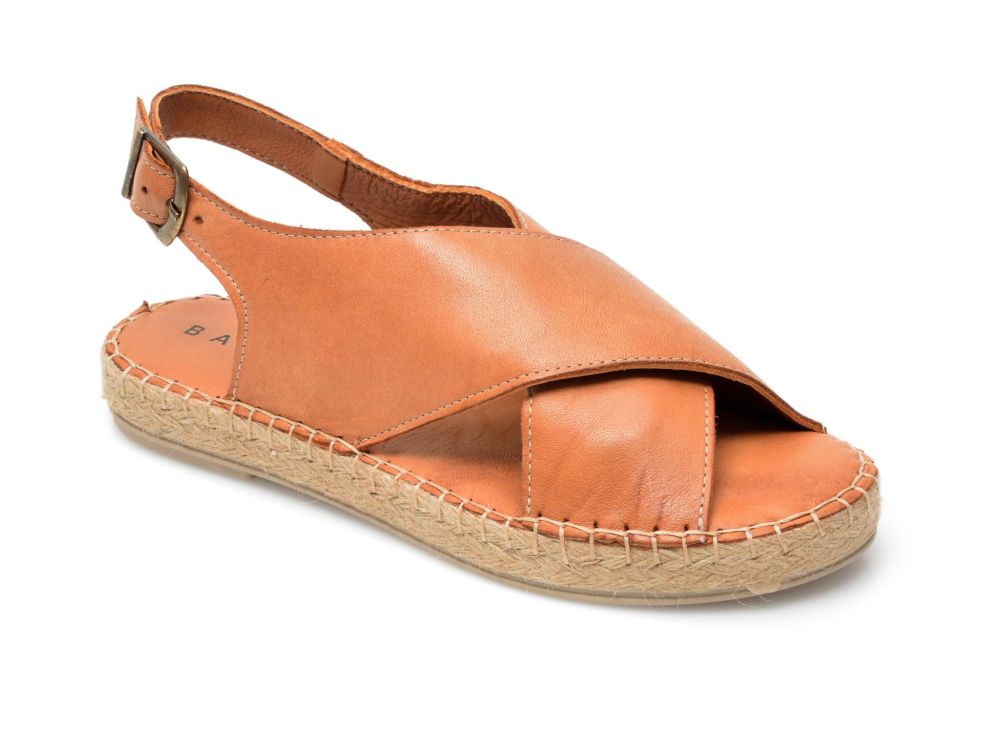 Sandale BABOOS maro, R05, din piele naturala imagine otter.ro