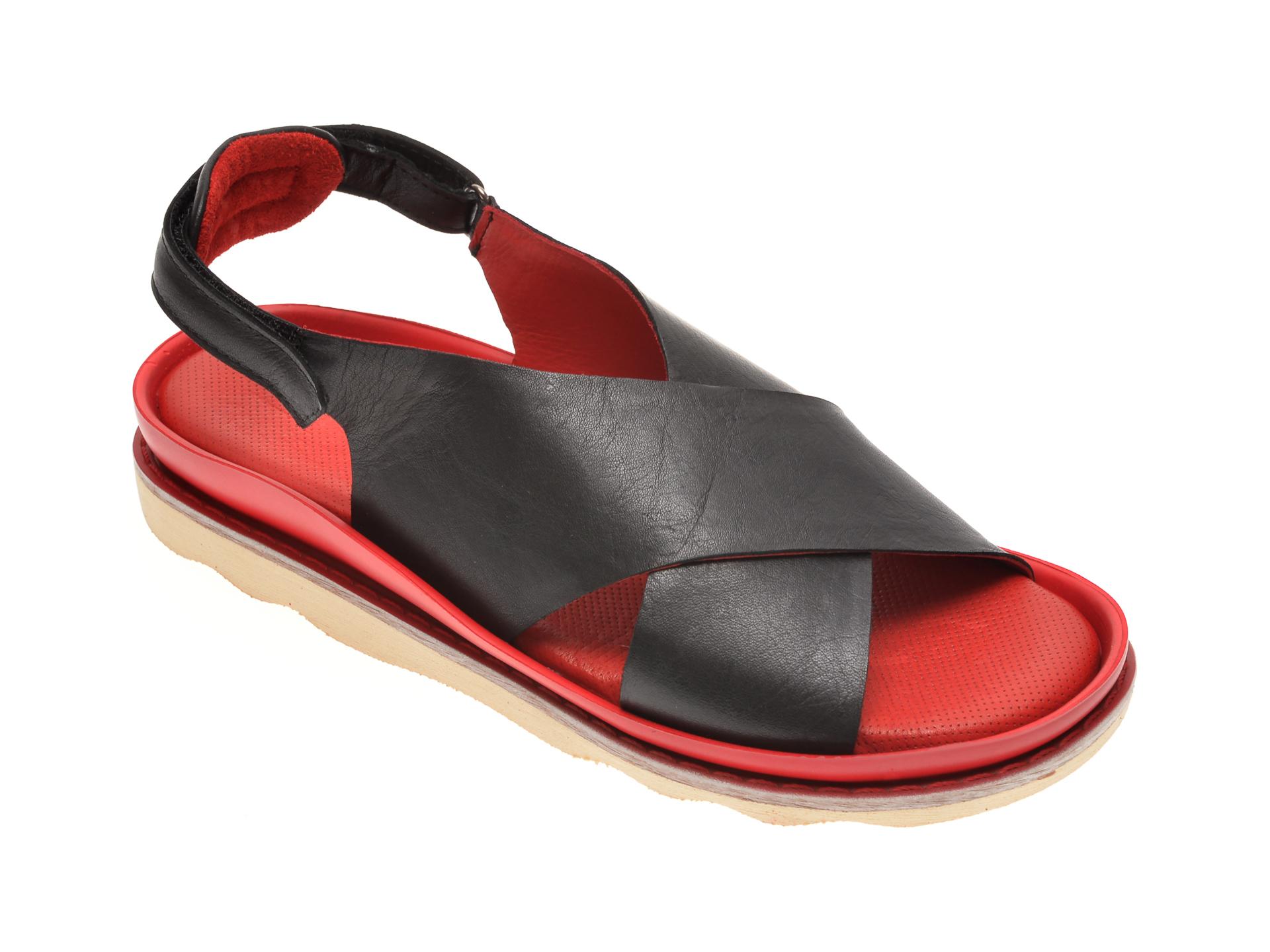 Sandale BABOOS negre, 0403, din piele naturala
