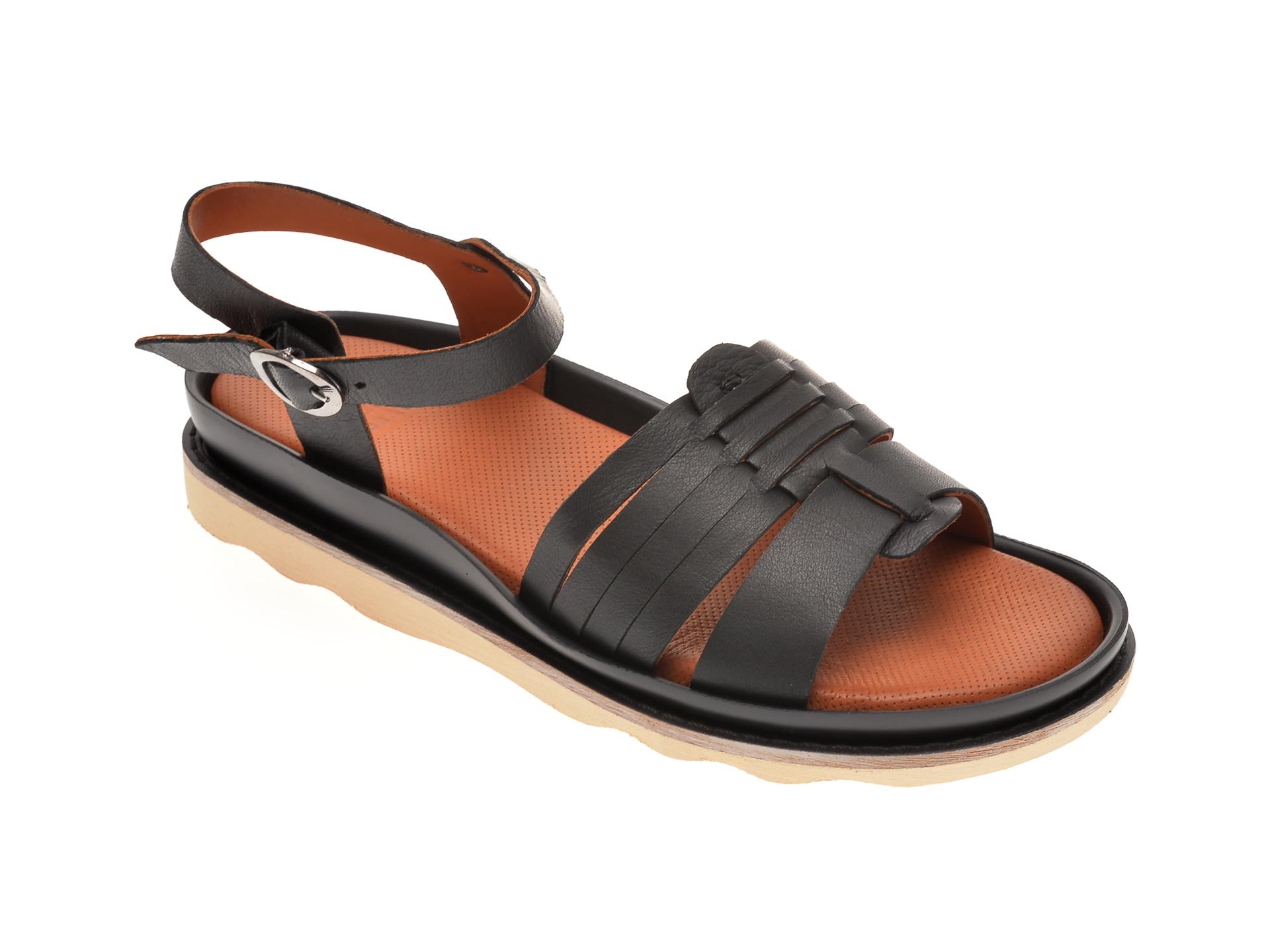Sandale BABOOS negre, 0404, din piele naturala imagine