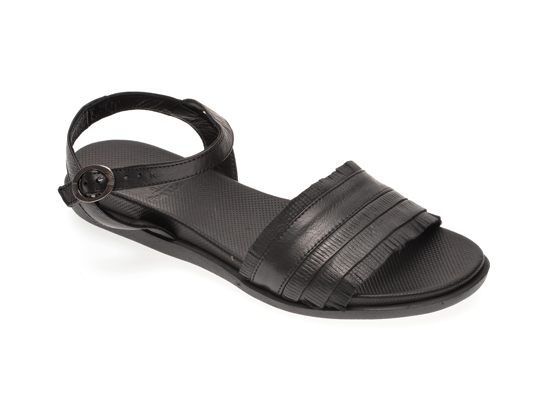 Sandale BABOOS negre, 1408, din piele naturala