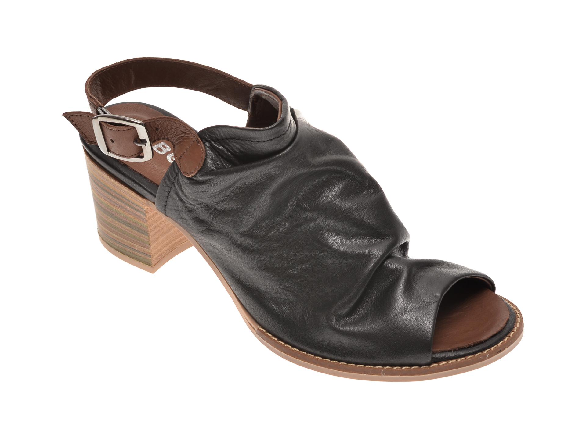 Sandale BABOOS negre, 1702, din piele naturala imagine otter.ro 2021